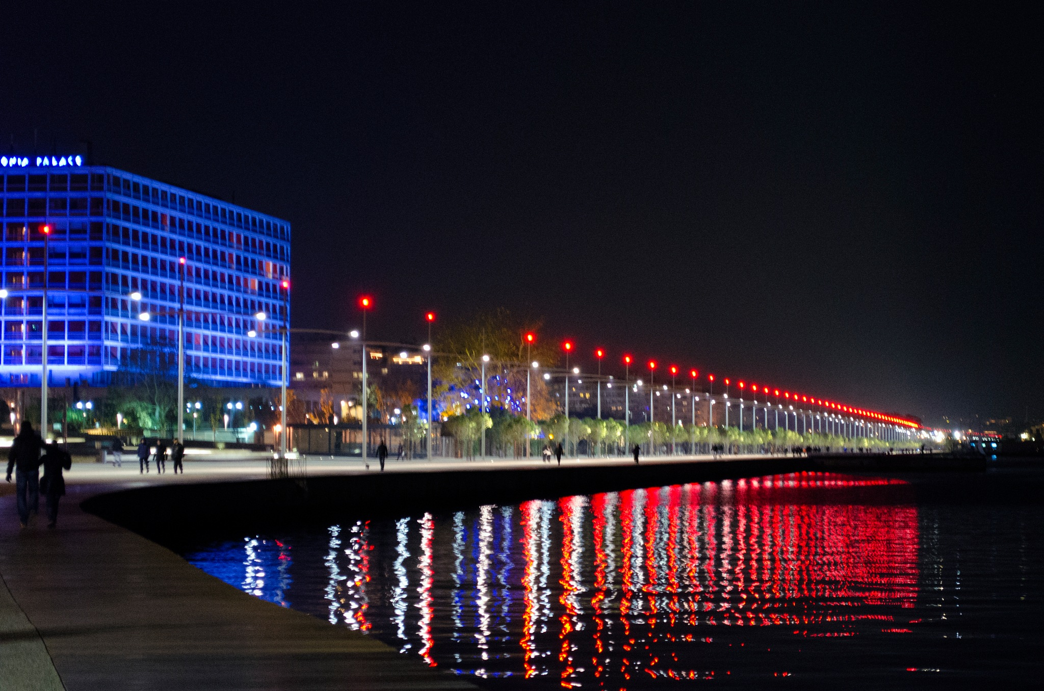 The waterfront at night by Stathis Karatzas