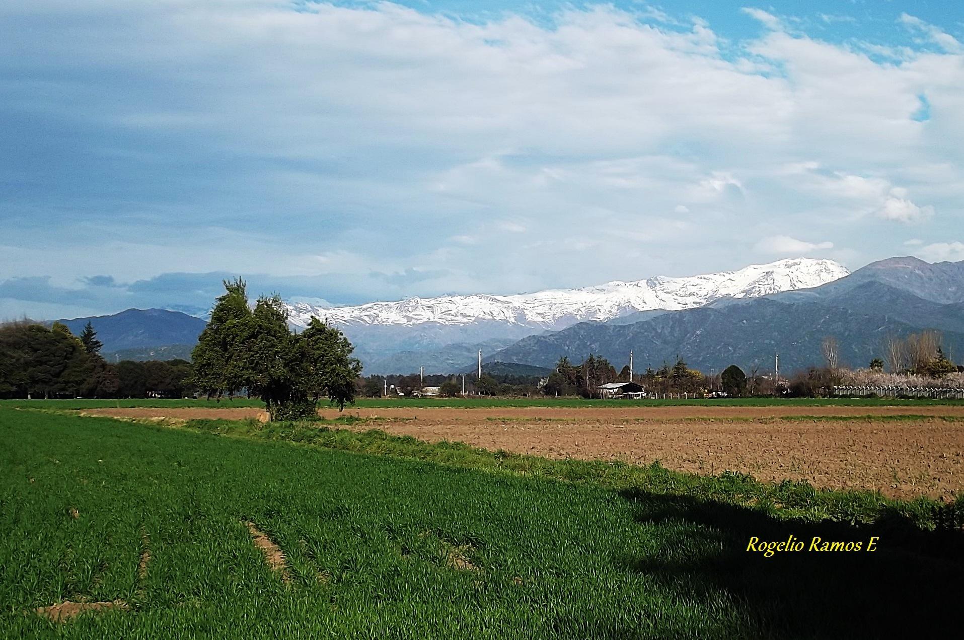 Cordillera de Los Andes, nevada y radiante by Rogelio Ramos Escobar