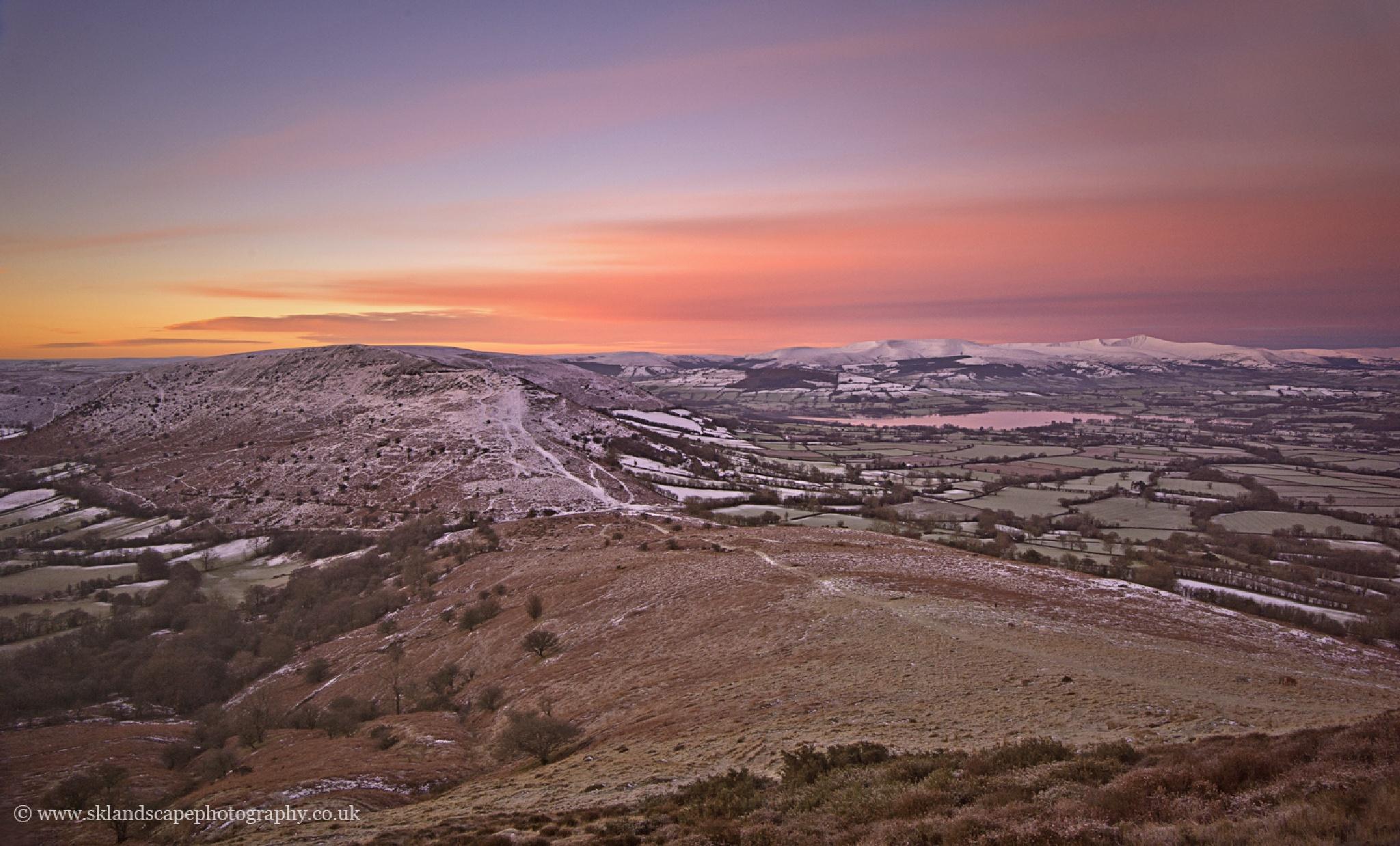 view from Mynydd Troed by Sandra K