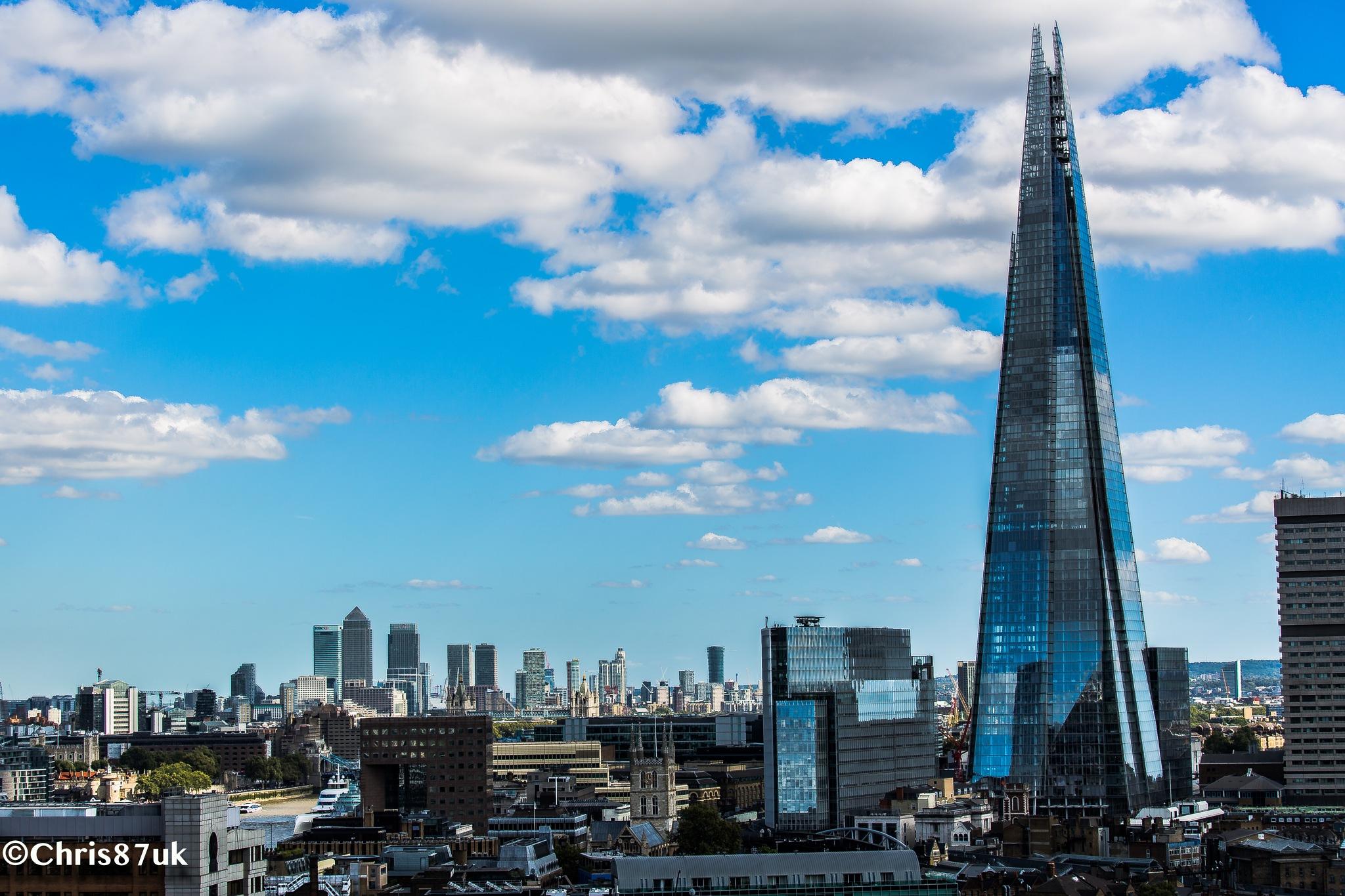 Photo in Cityscape #london #the shard #canary wharf