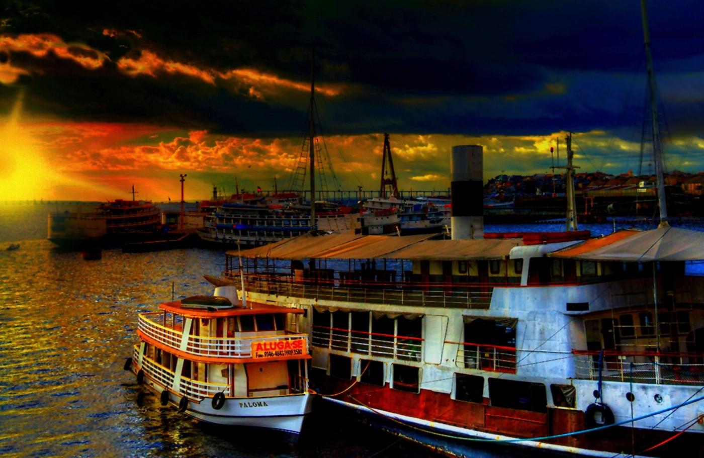 Port w Manaus by zbych41