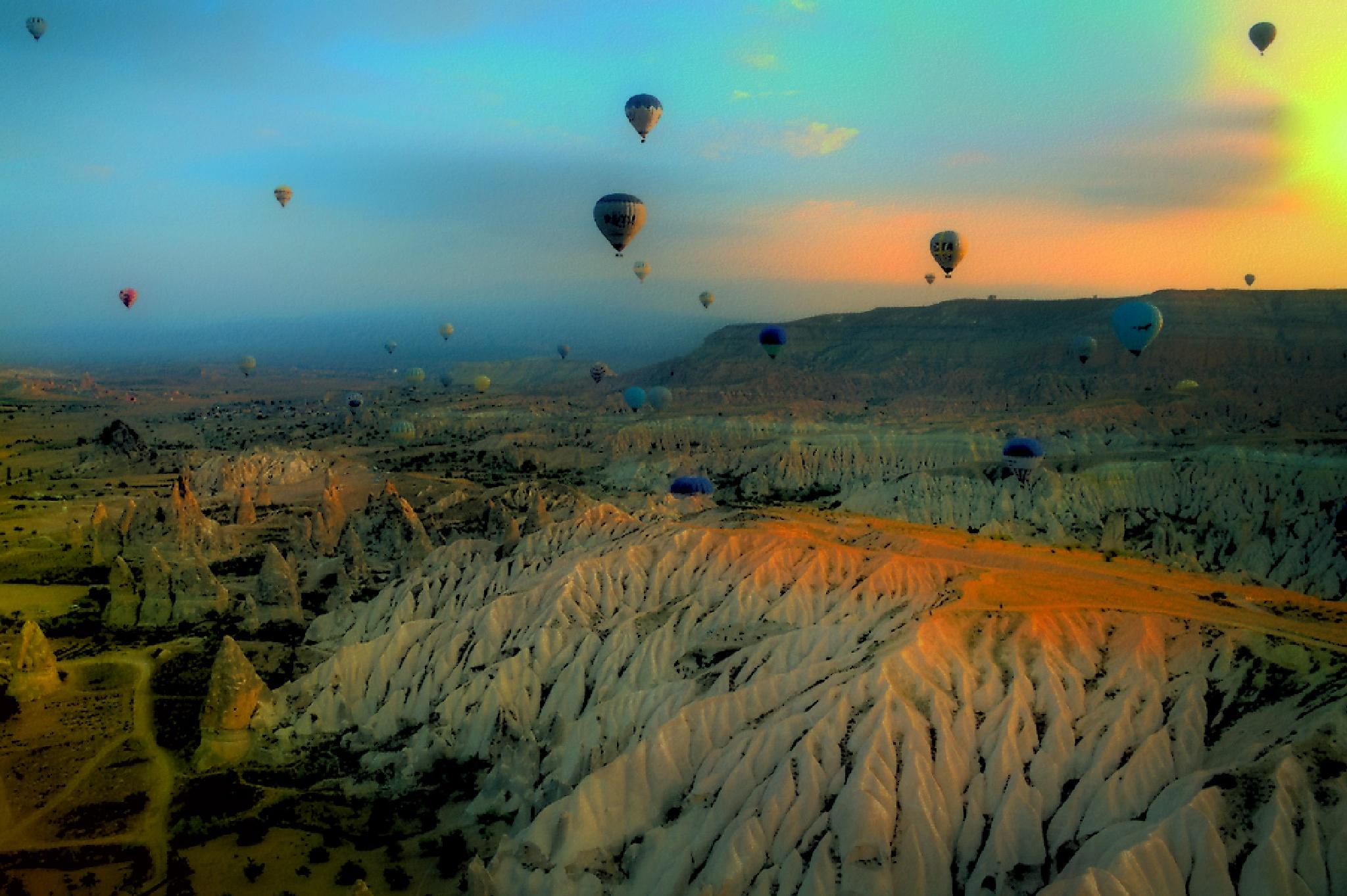 Kapadocja widziana z balonu.... by zbych41