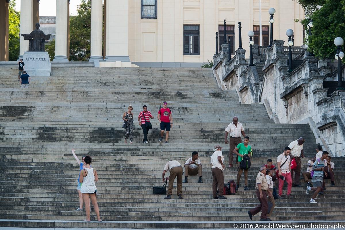 "La escalinata de la Universidad de La Habana/The Famous ""escalinata"" at the Univ. of Havana by arnold weissberg"
