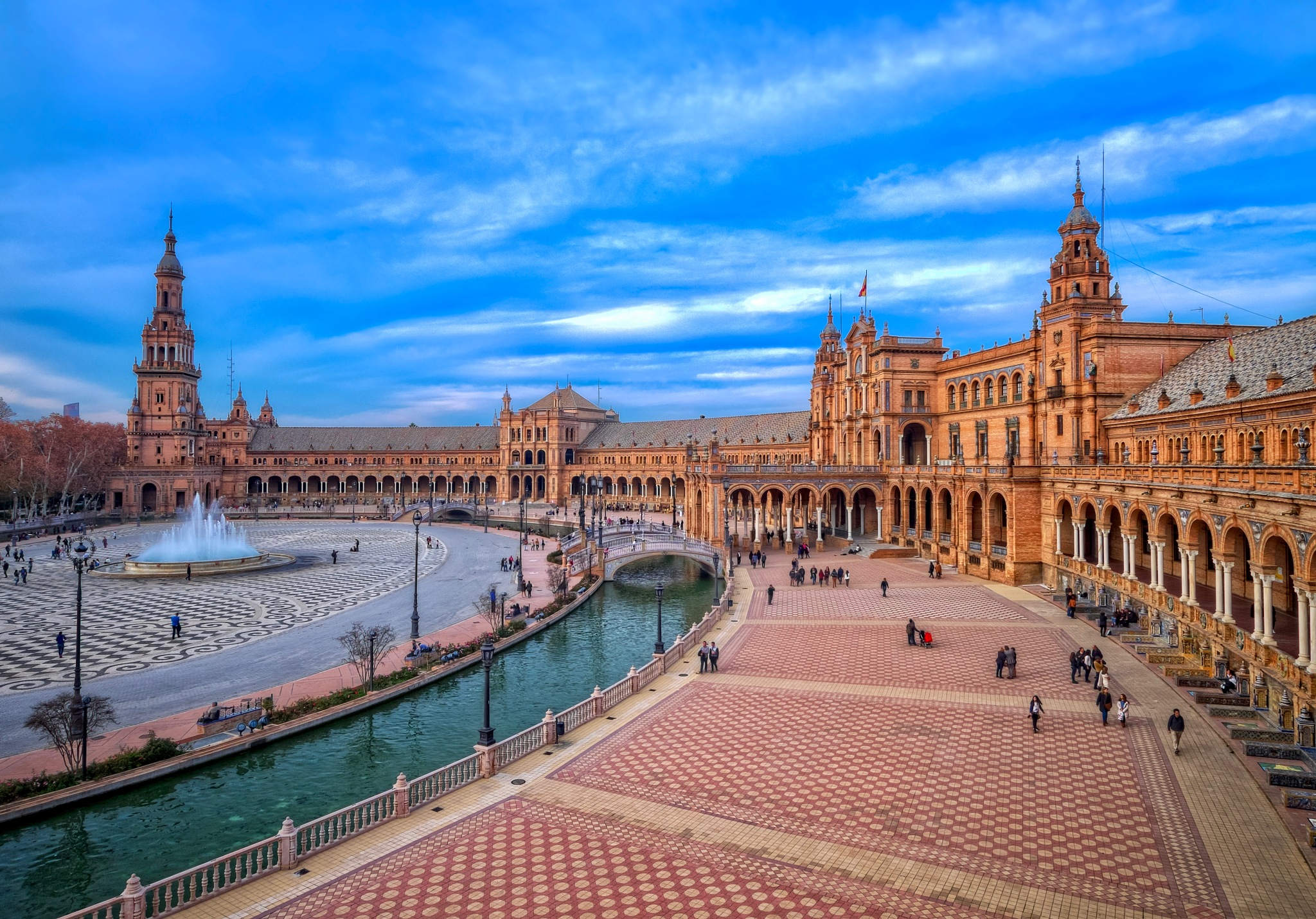 Plaza de España, Seville, Spain by blindthirdeye