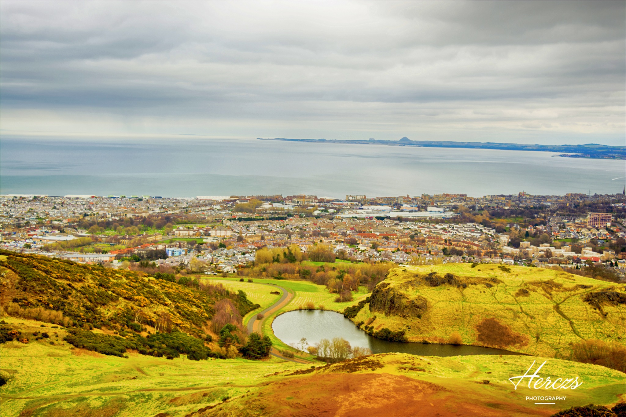 View from Arthur's seat by Herczs Photography