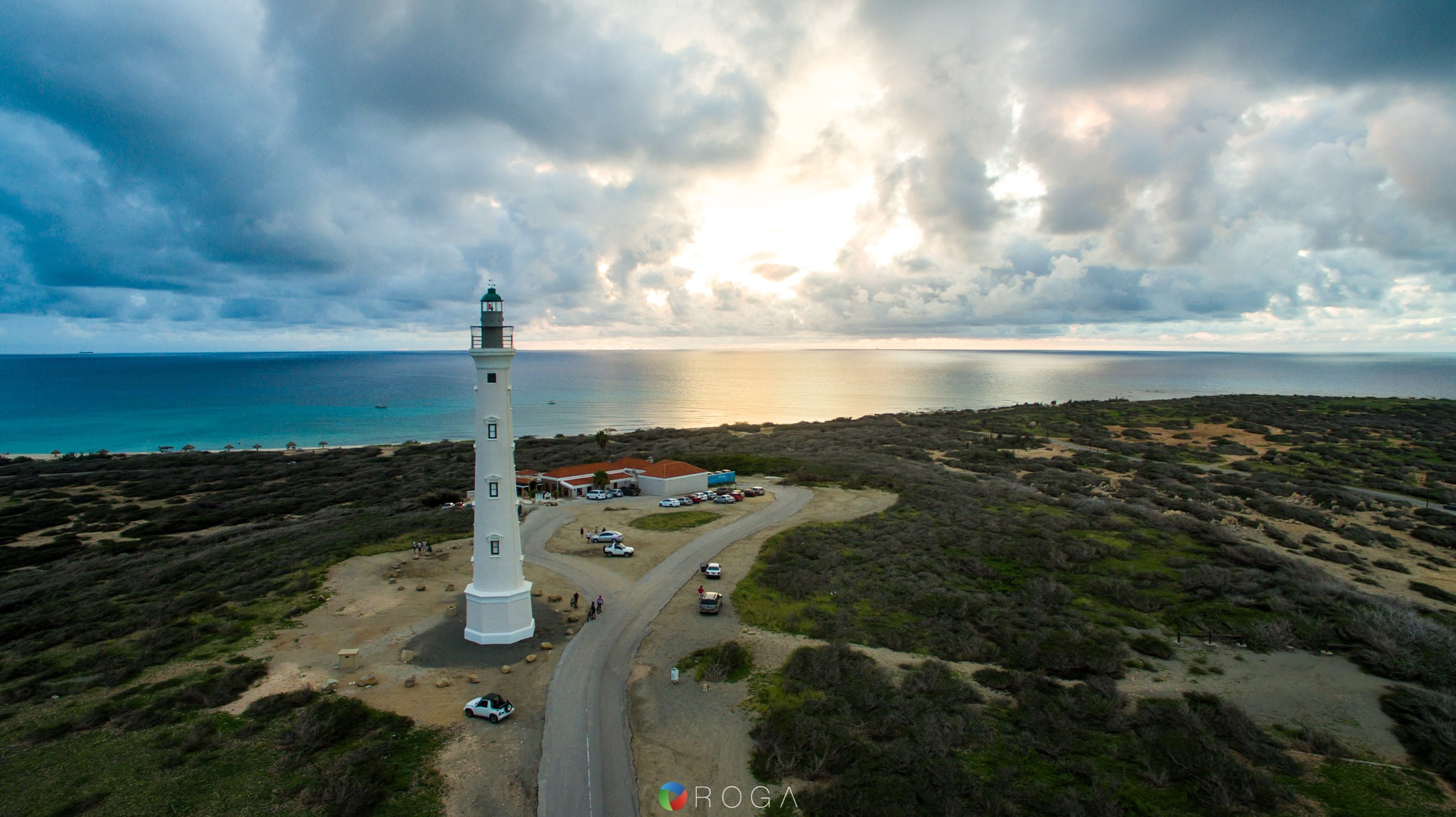 California Lighthouse Aruba by Angelo H.A. Roga