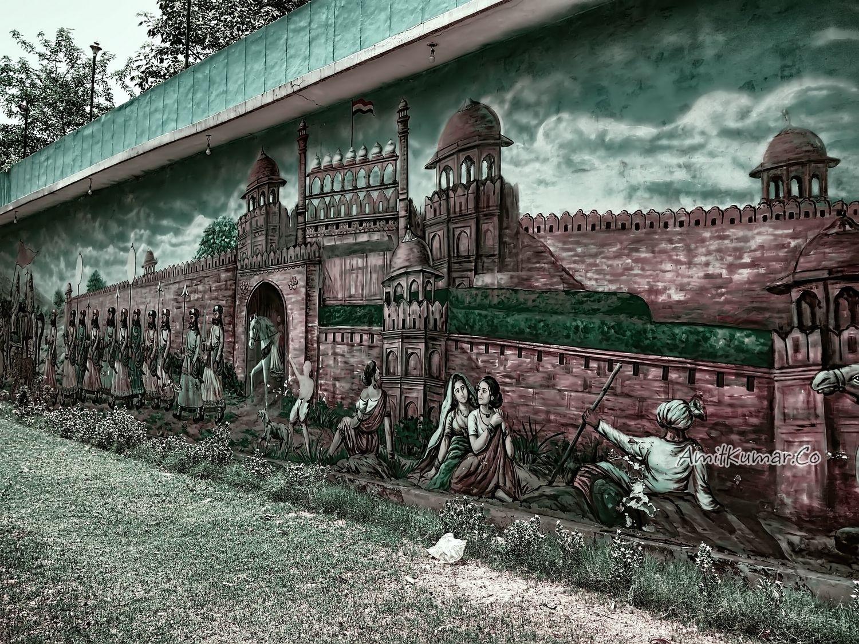 Delhi street art by amitkr