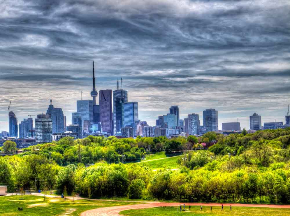 TORONTO DOWNTOWN VIEW by Purple Aureole