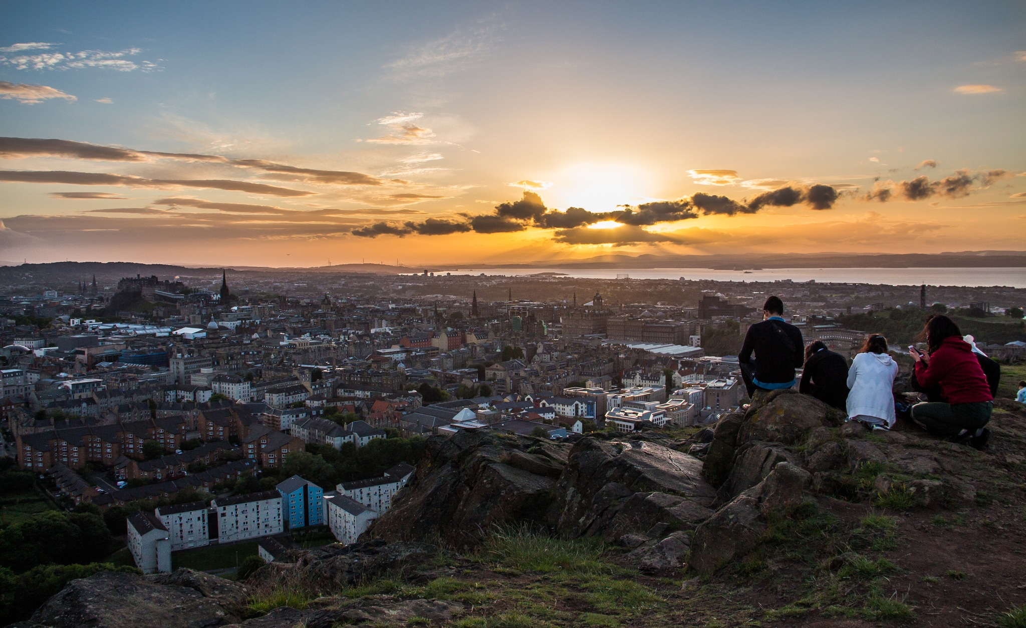 Edinburgh Sunset by Ben V