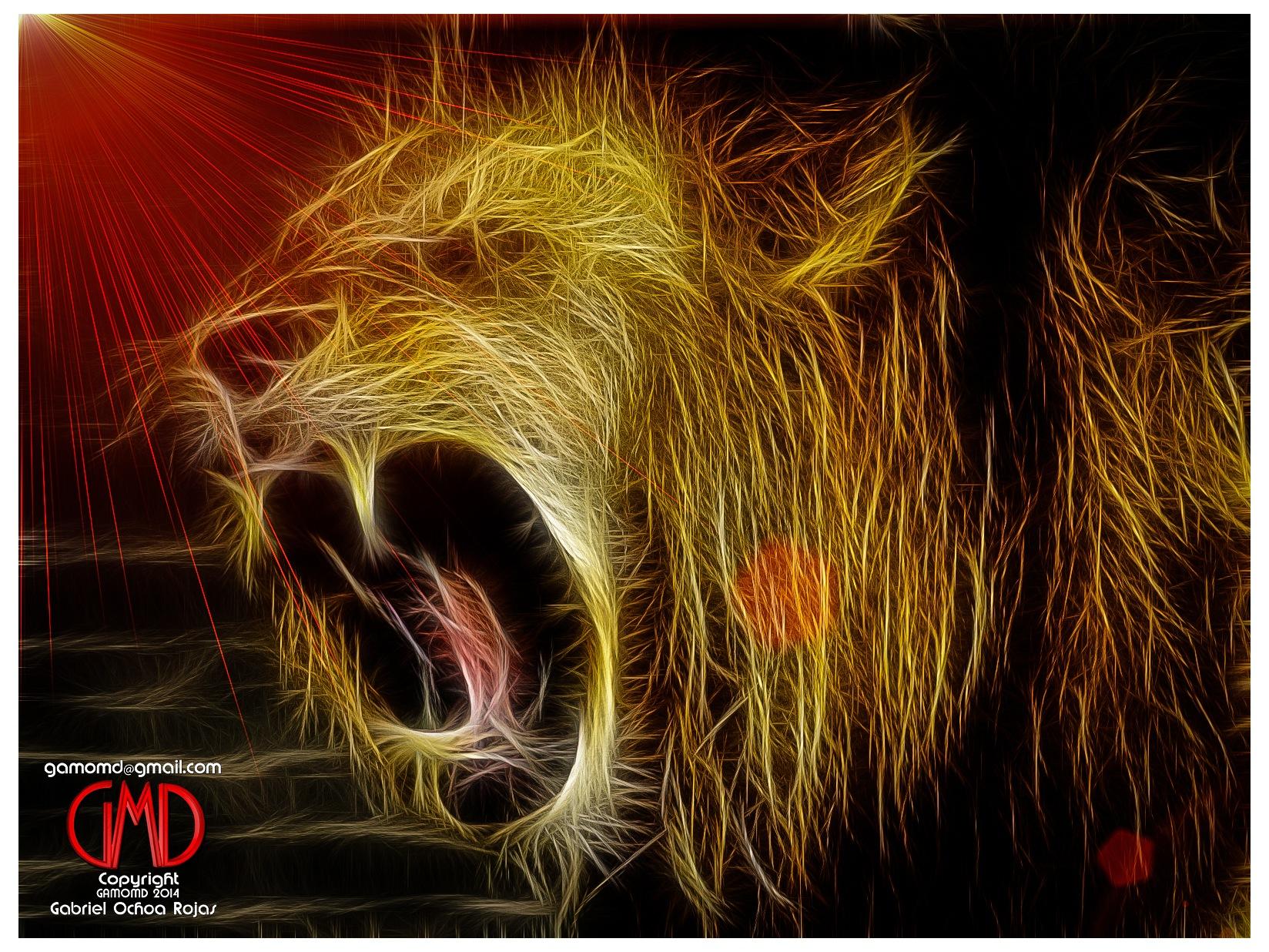 Fractal Lion - León Fractal by Gabriel Ochoa Rojas