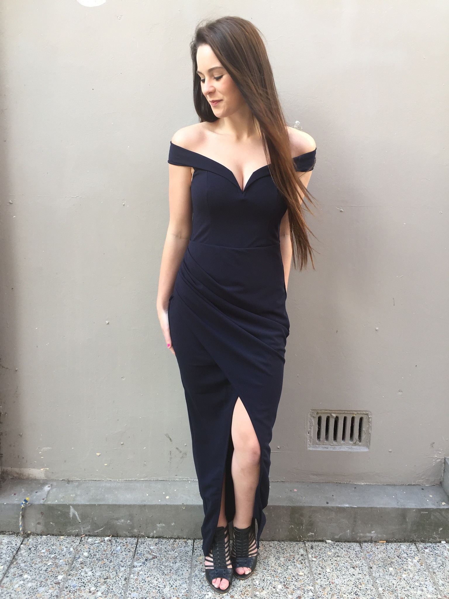 Dreamer dress by Fresh Soul in navy by vashtiboutique