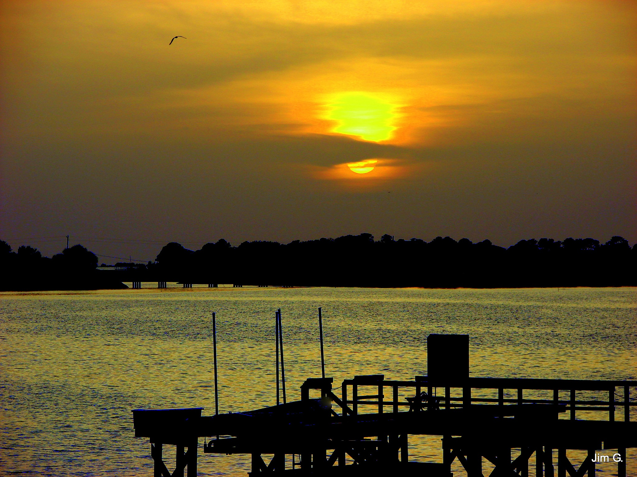 Sunset at Cedar Key by Jim Graham