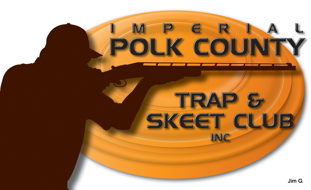 Me in silhouette in proposed logo for our Trap Club by Jim Graham