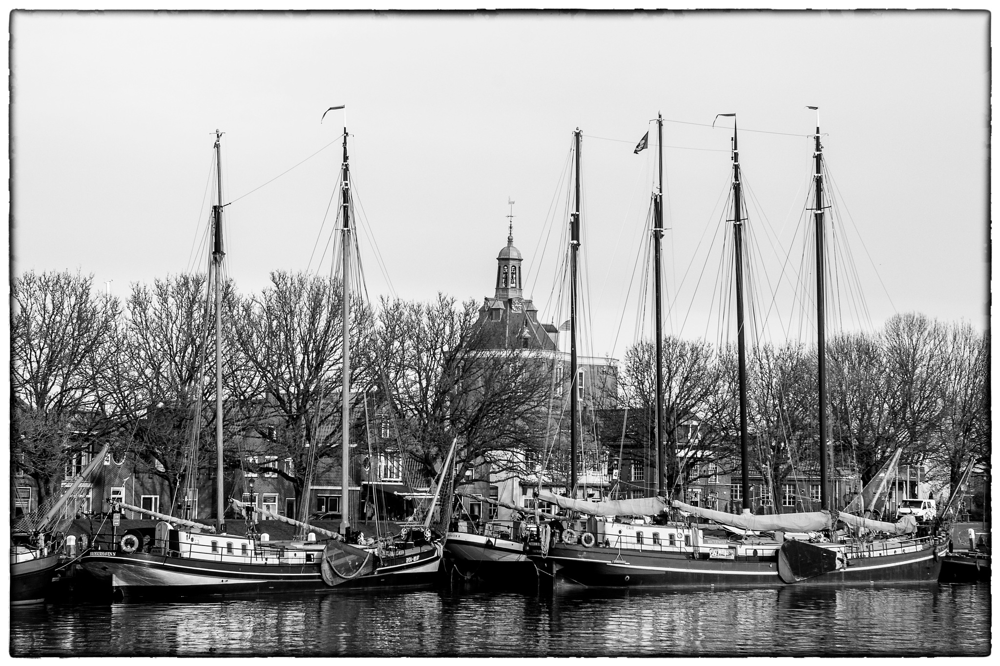 old ships in the port of Enkhuizen 2 by Sjaak Buis
