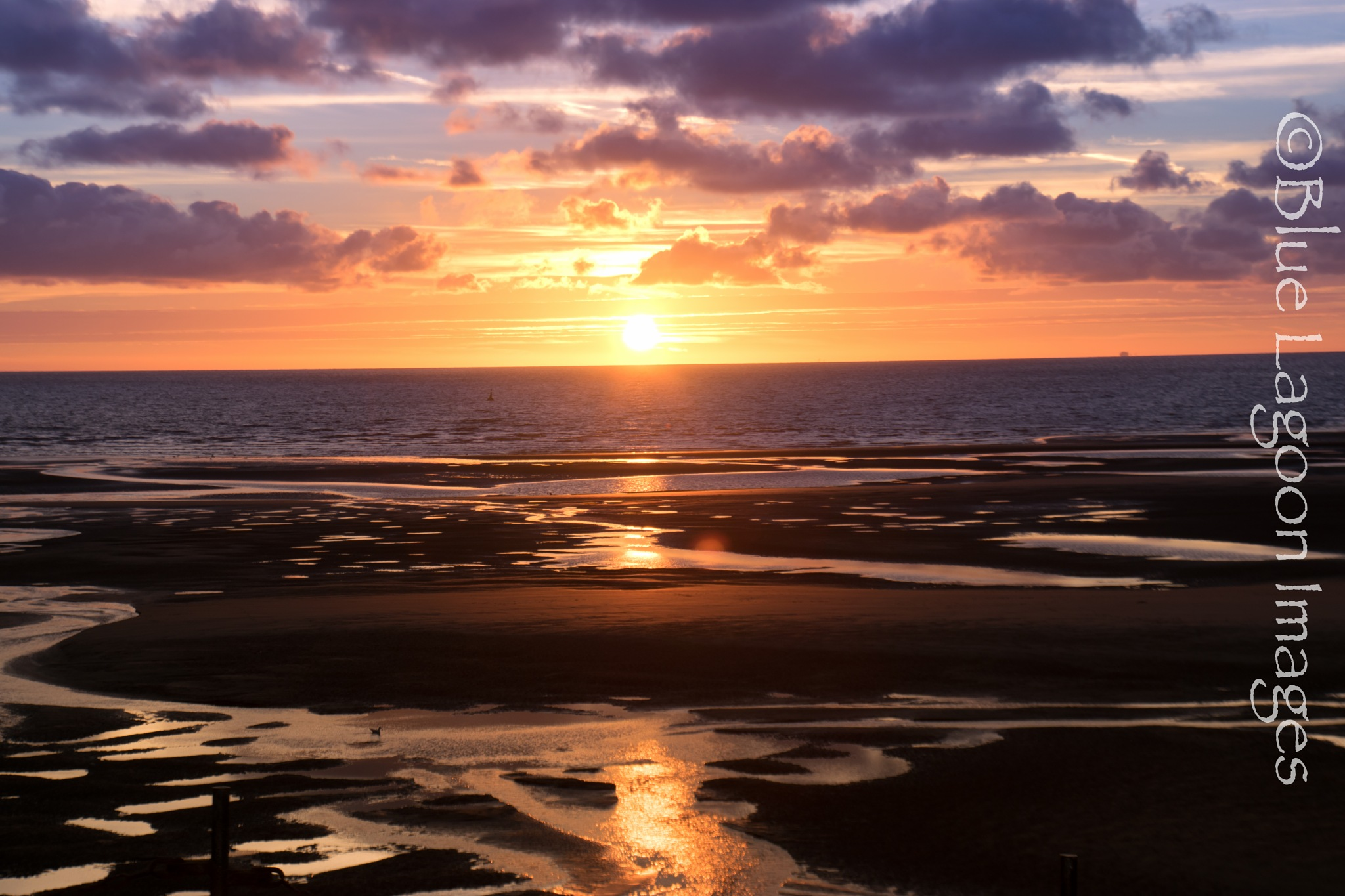 Sunset in Blackpool by Blue Lagoon Images