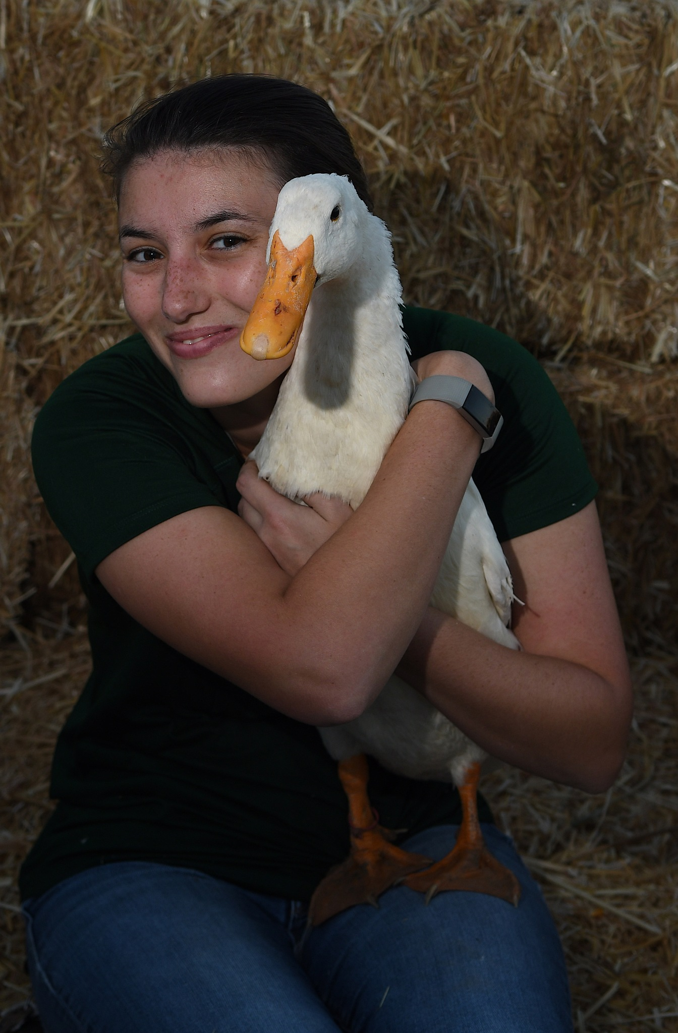 A Girl and Her Goose by Brian Baity