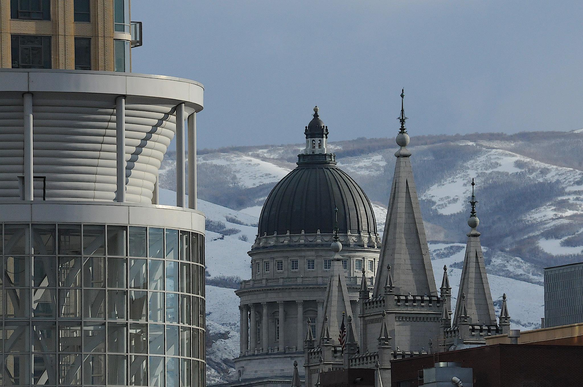 Landmarks of Salt Lake City by Brian Baity