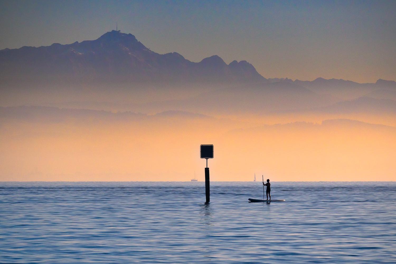 last day in season on lake by Joachim Naas