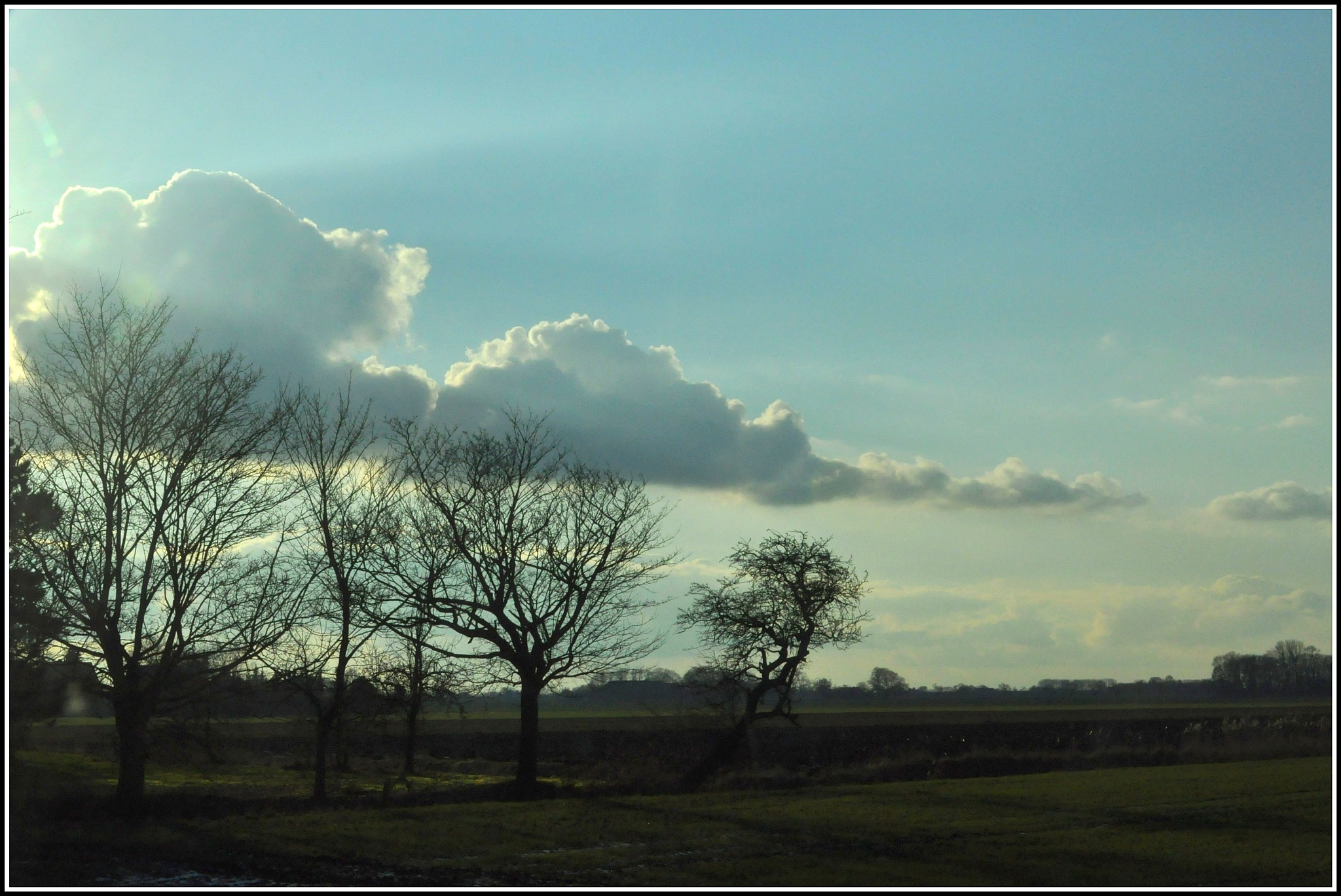 Blue and white sky by Jacob van der Veen