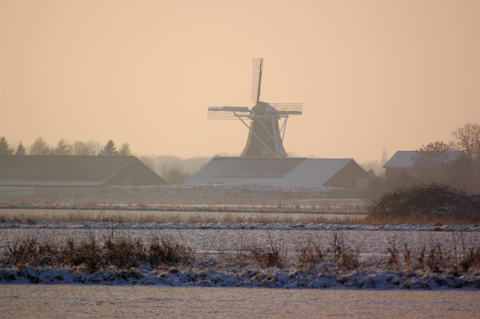 Mill in Holland by Jacob van der Veen
