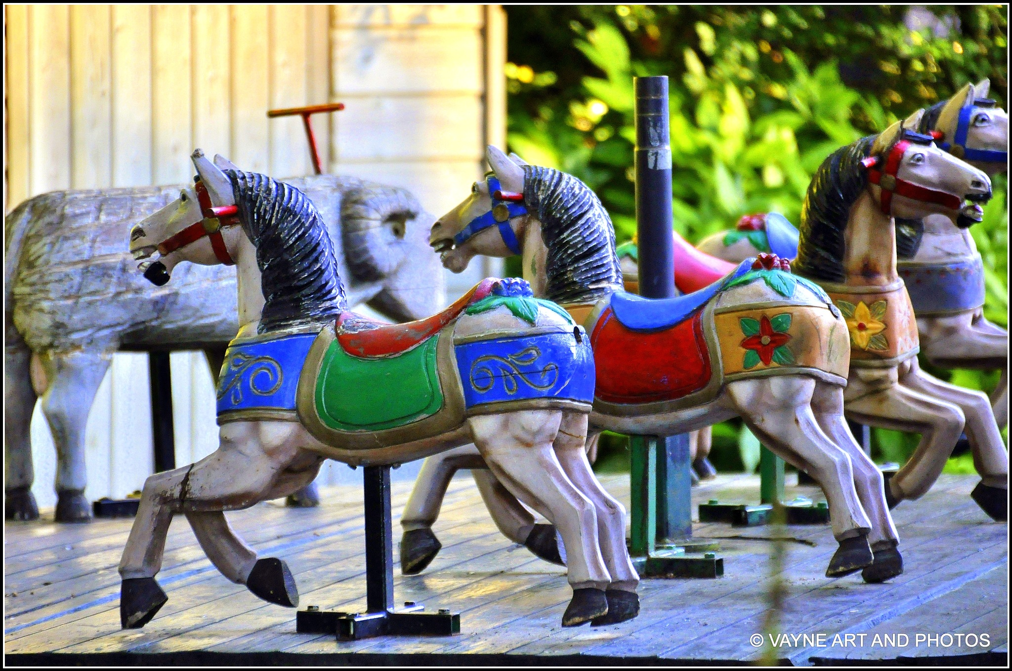 Toy horses by Jacob van der Veen