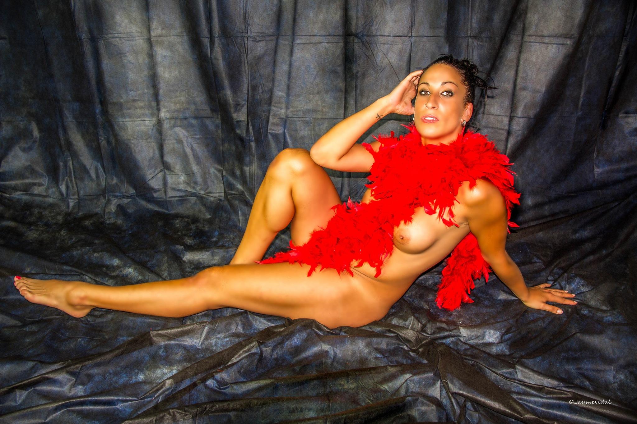 Lorena in dark room by JaumeVidal