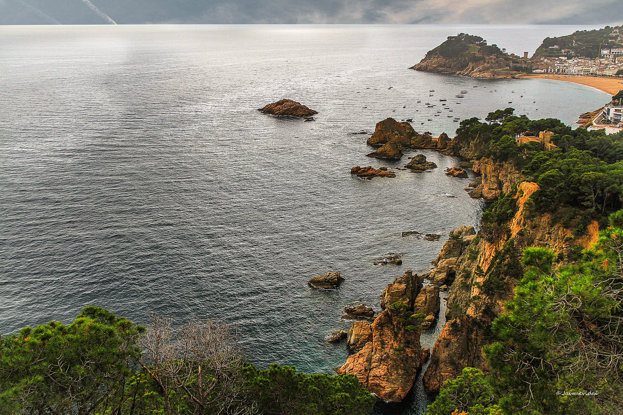 Corner of the Costa Brava with Tossa de Mar in the background by JaumeVidal