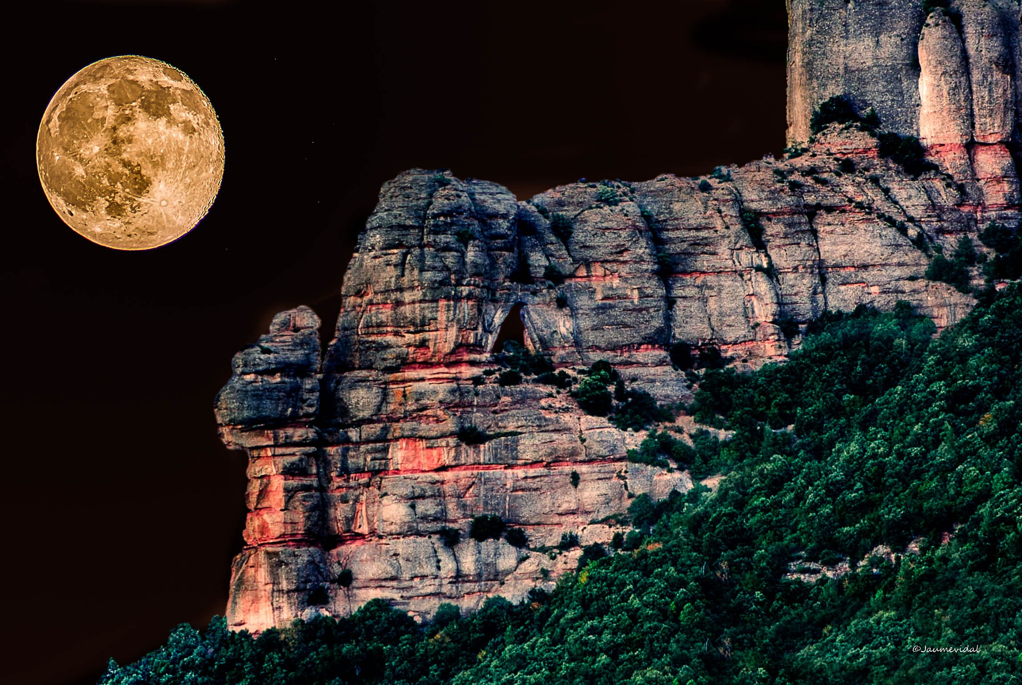 The night in the mountains of Montserrat by JaumeVidal