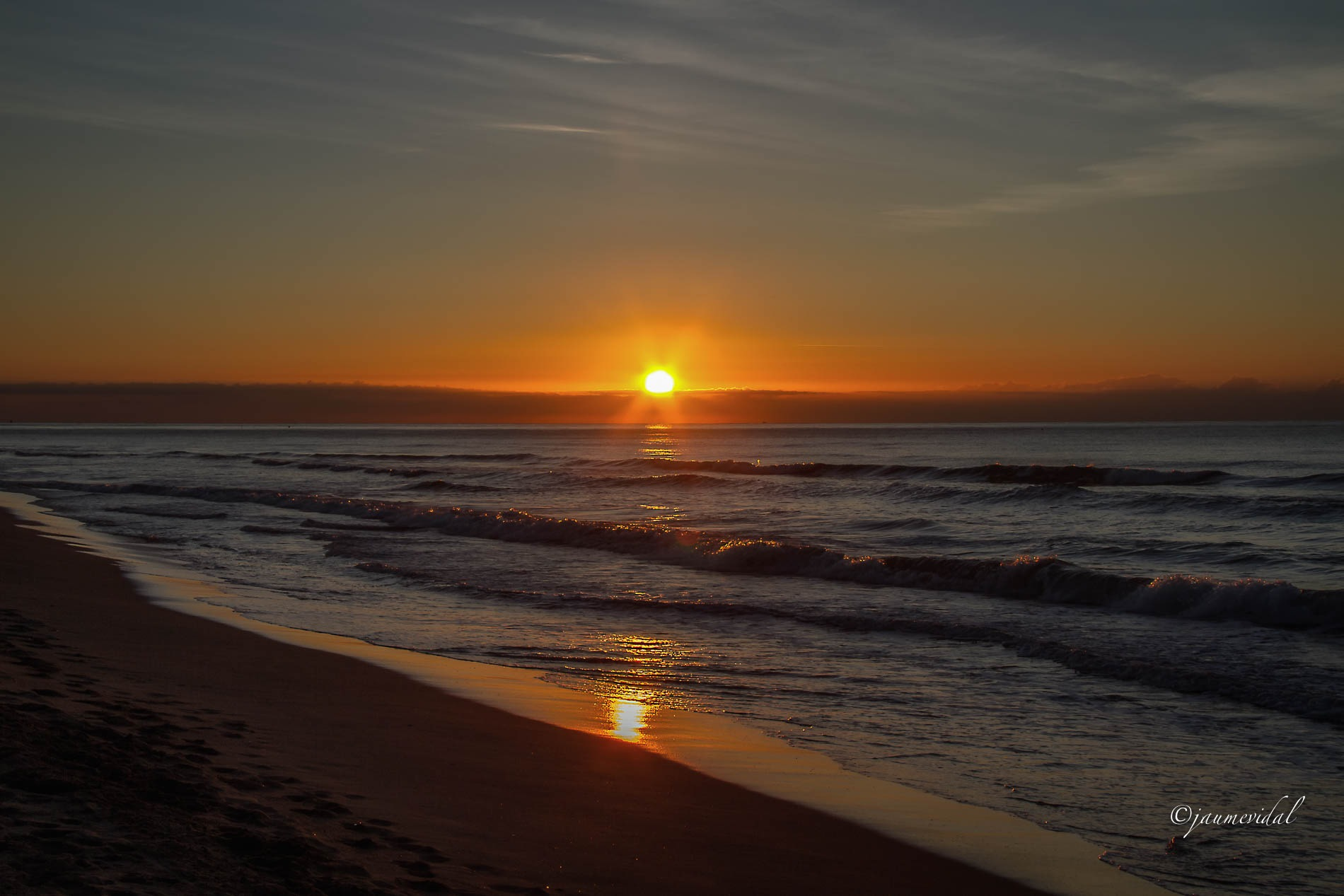 Photo in Landscape #landscape #sunset #sun #water #beach #sea #newday