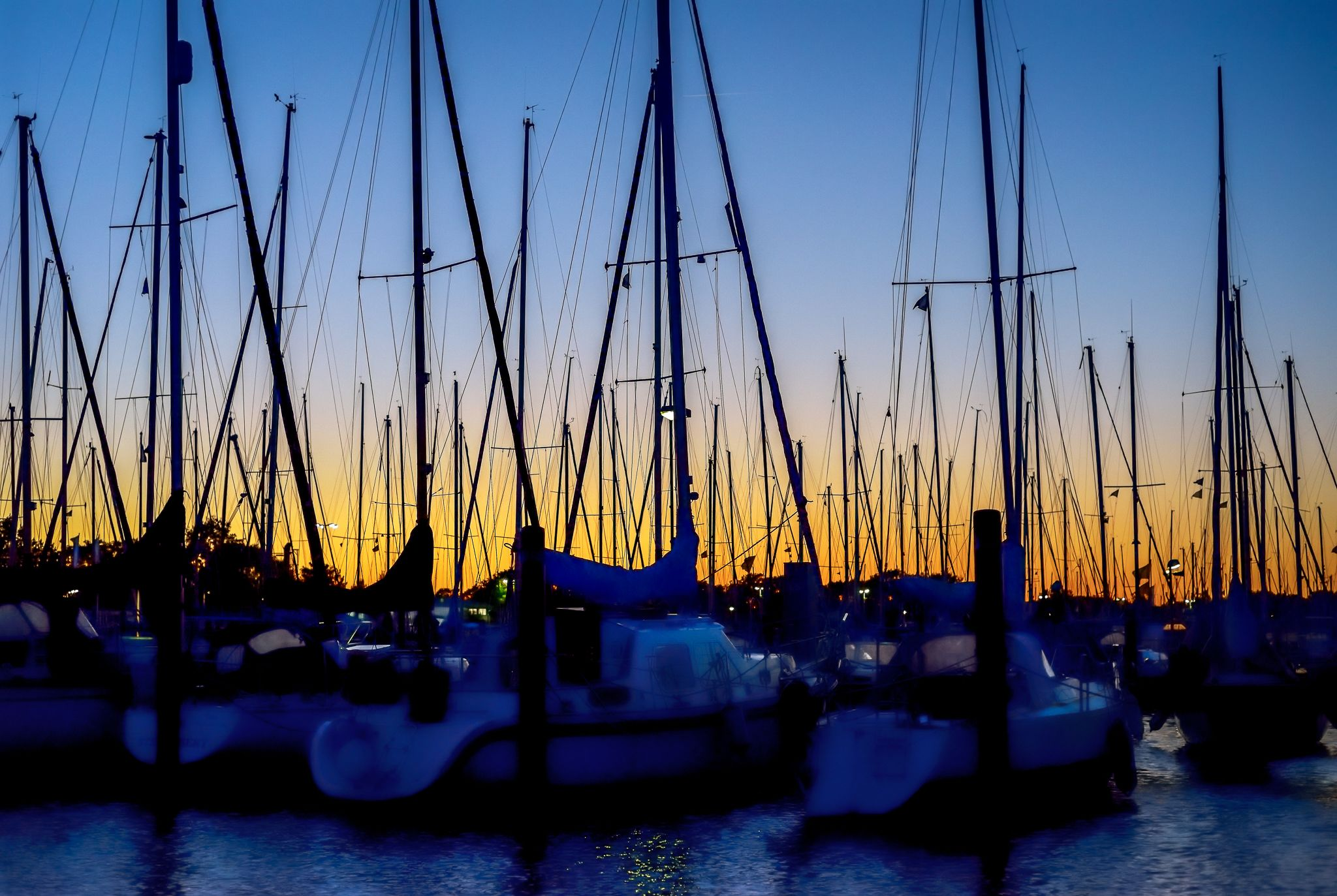 sunset at the port by Robert Glöckner