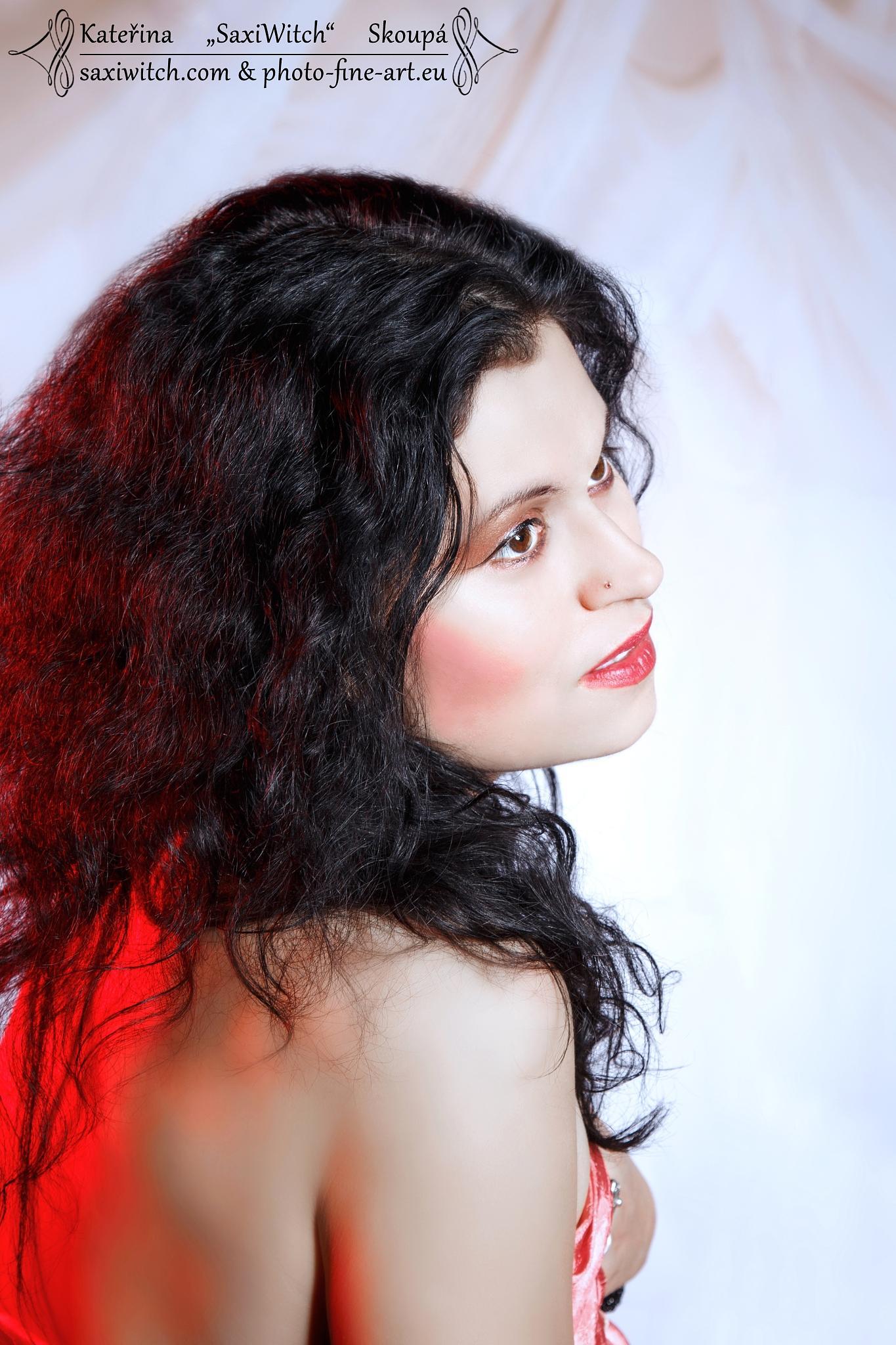 self-portrait by Kateřina Skoupá