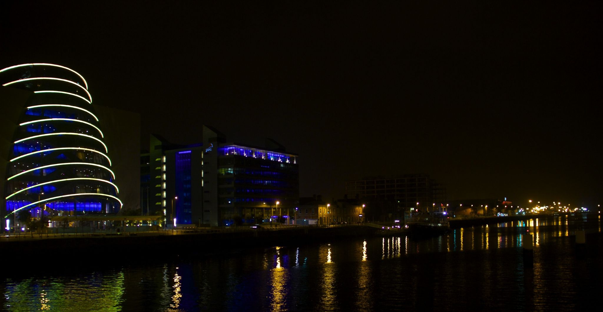 Dublin Docklands at Night by Peter Purdue