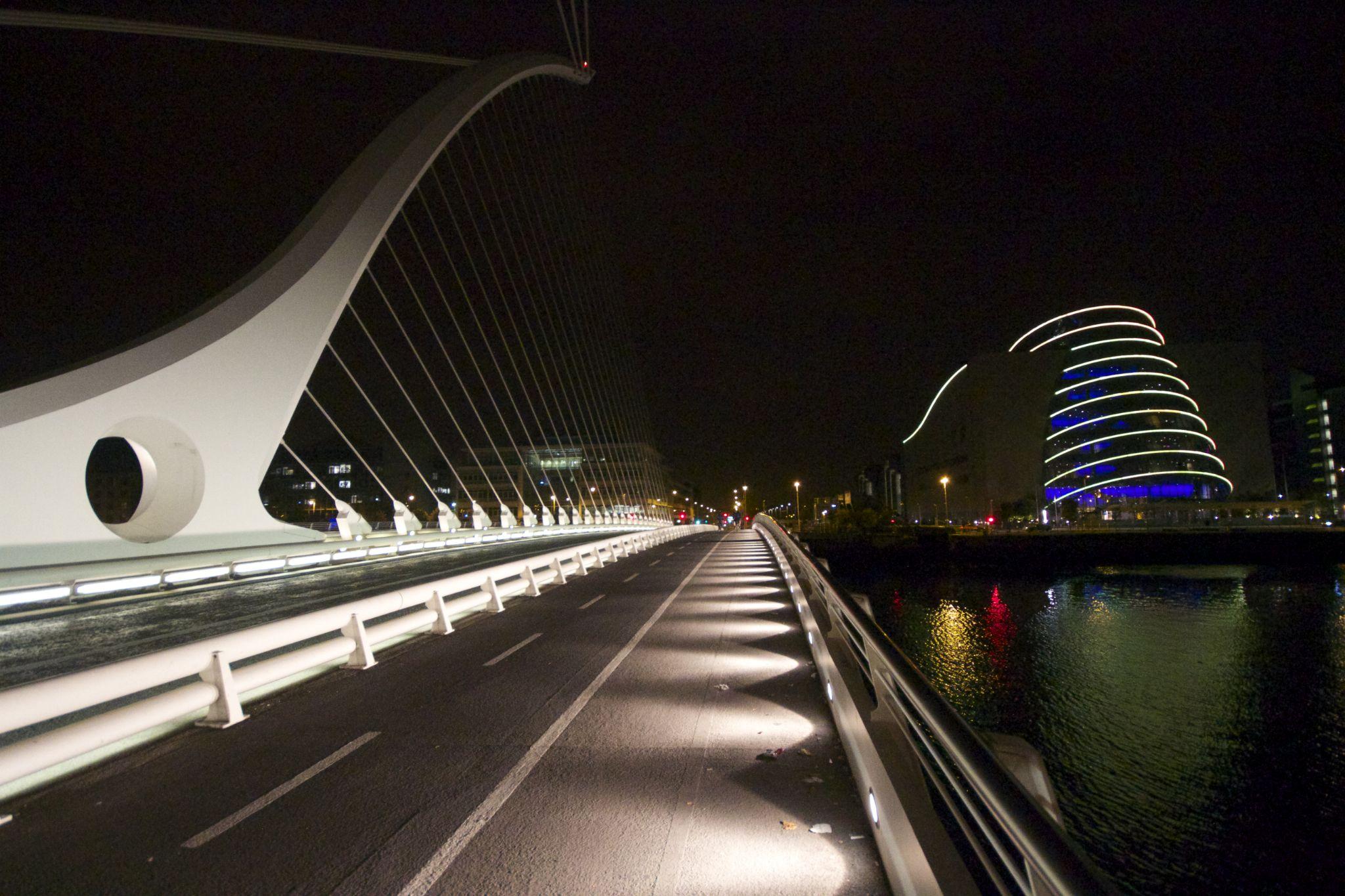 Samuel Beckett Bridge / Conference Centre  by Peter Purdue