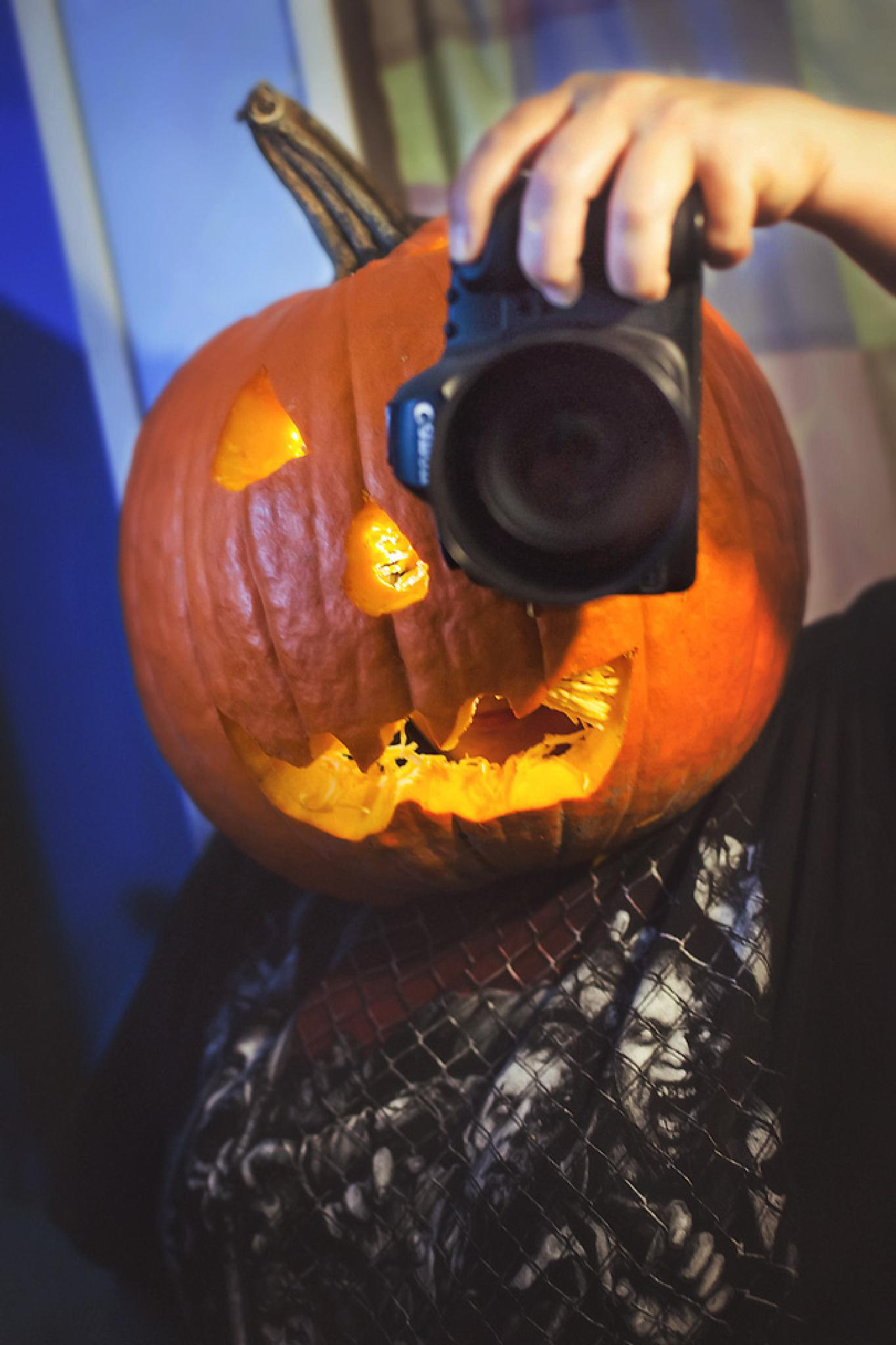 Happy Halloween Selfie by Suzanne Fielding Paul