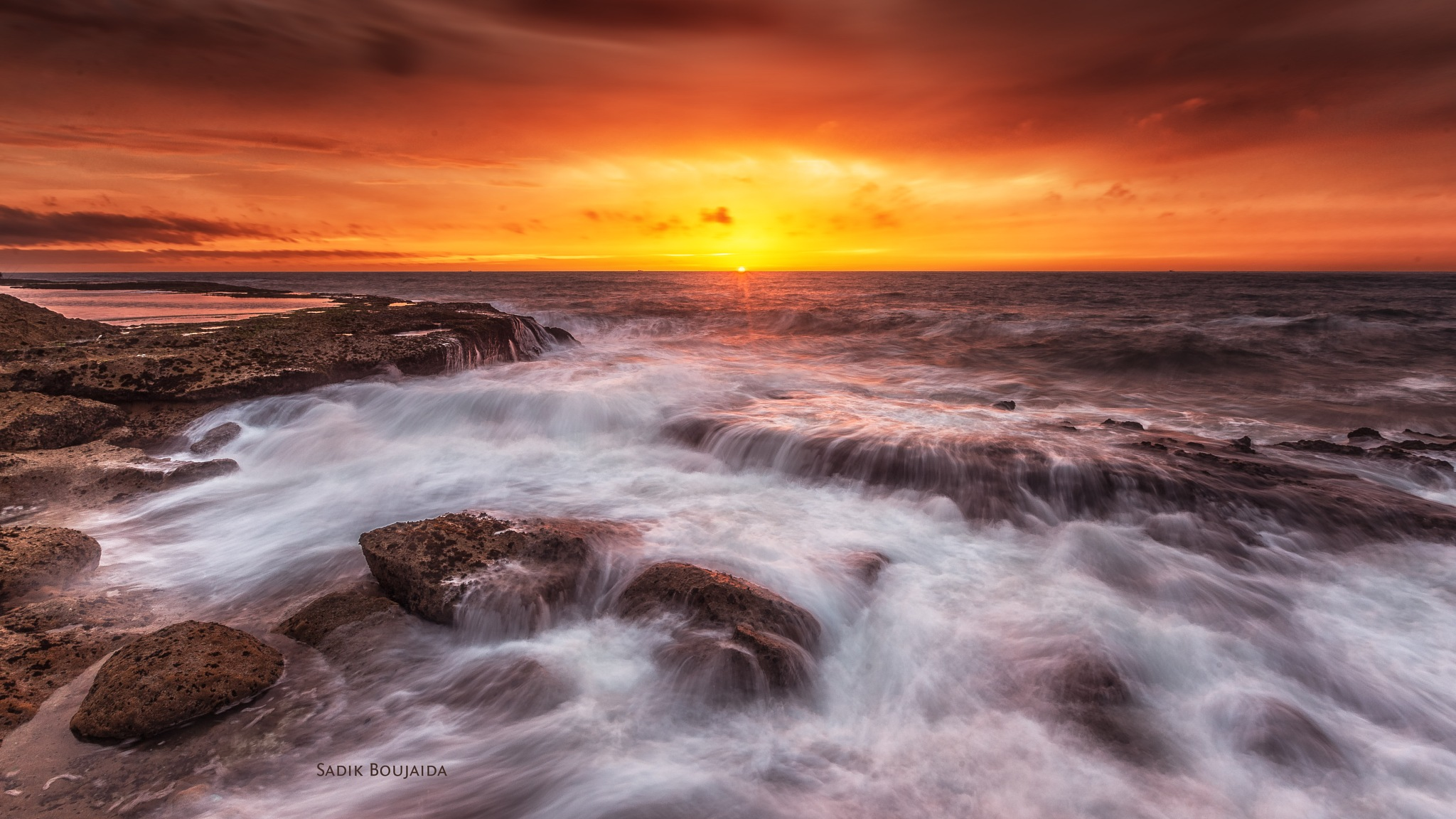 Spring Sunset by Sadik Boujaida