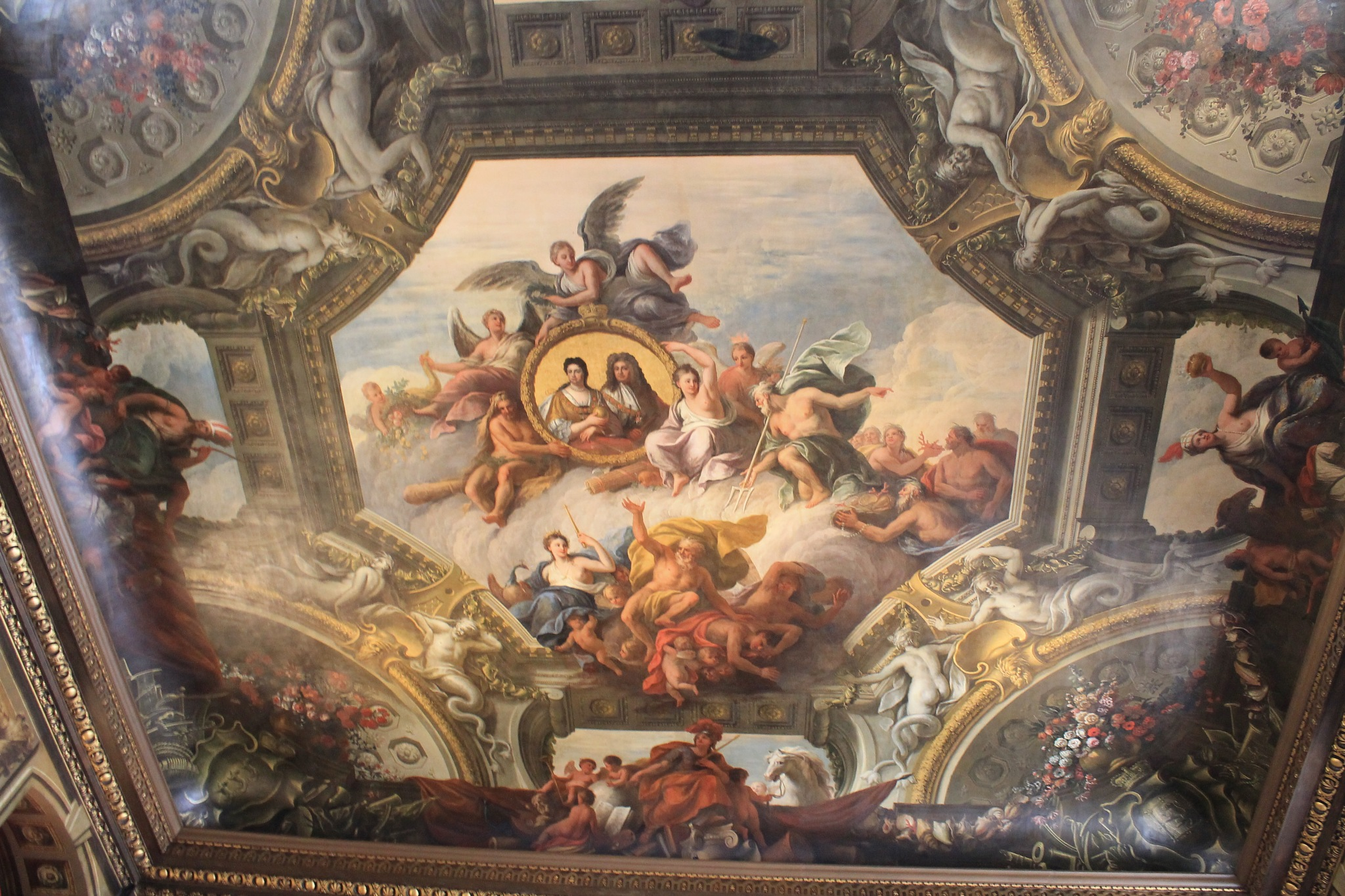 ceiling of the painted hall at the Royal Naval College by Paul Bownas