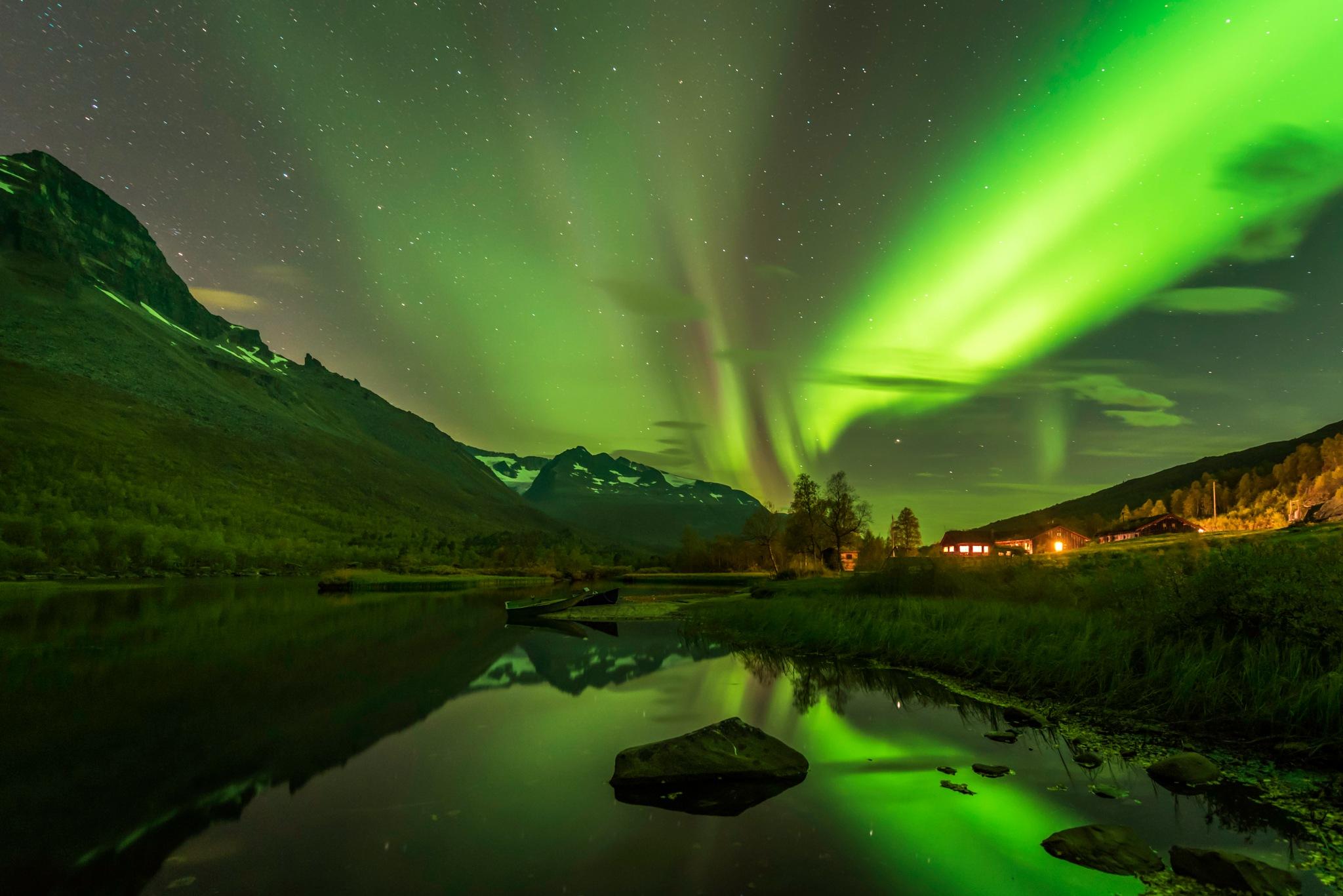 September Aurora Borealis by Ermedin Islamcevic