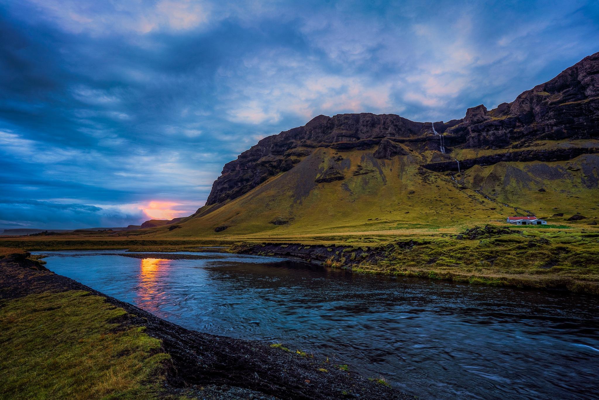 Iceland sunset by molinaadavid