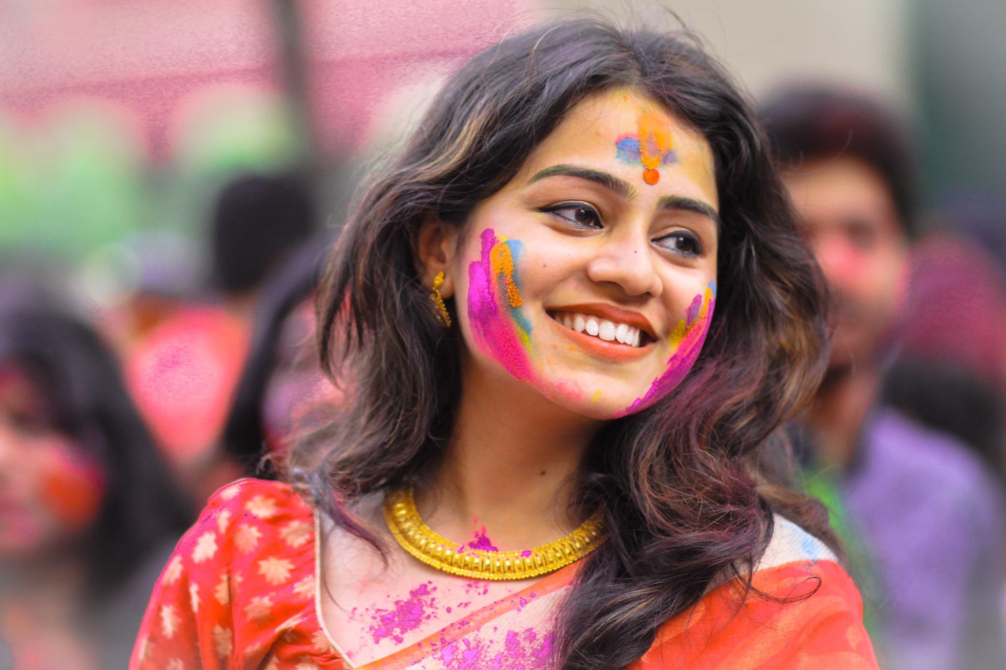 holi celebration by Suvam Saha