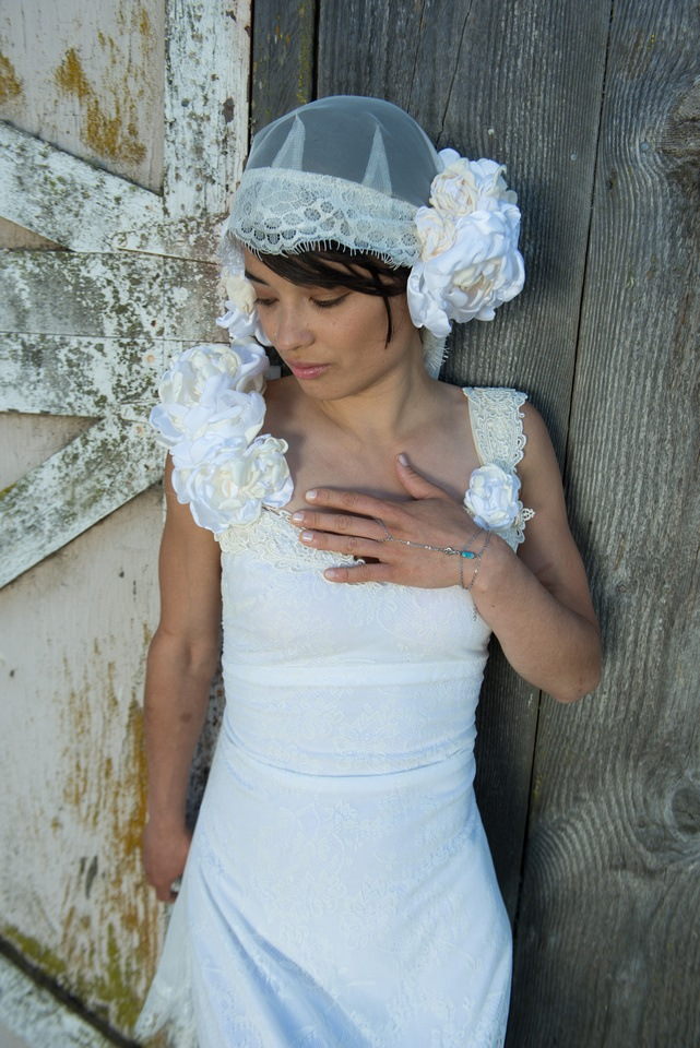 Old Barn. White Dress. by Elizphotography
