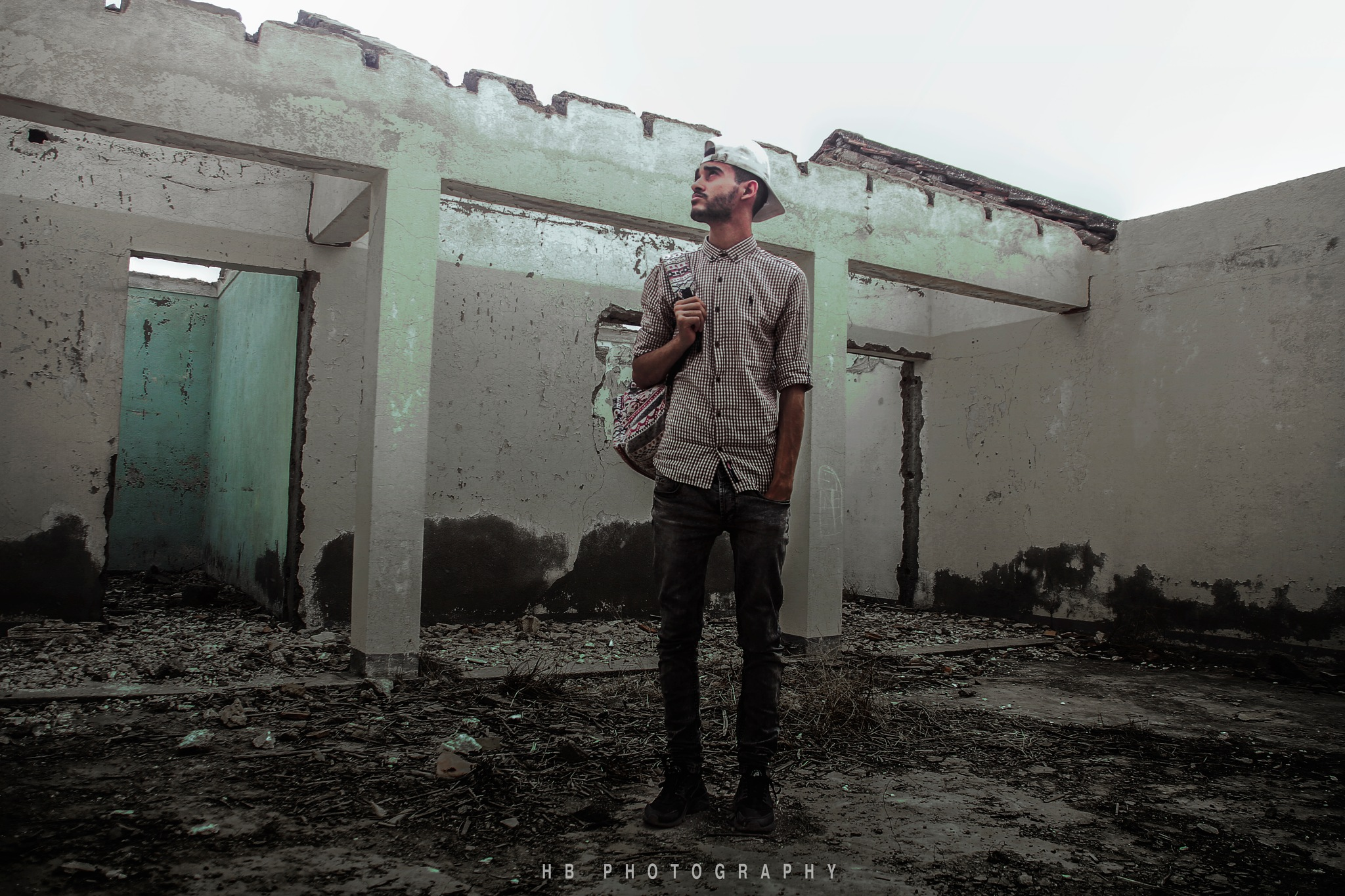 lonly in the destruction by Houssam Benghalia