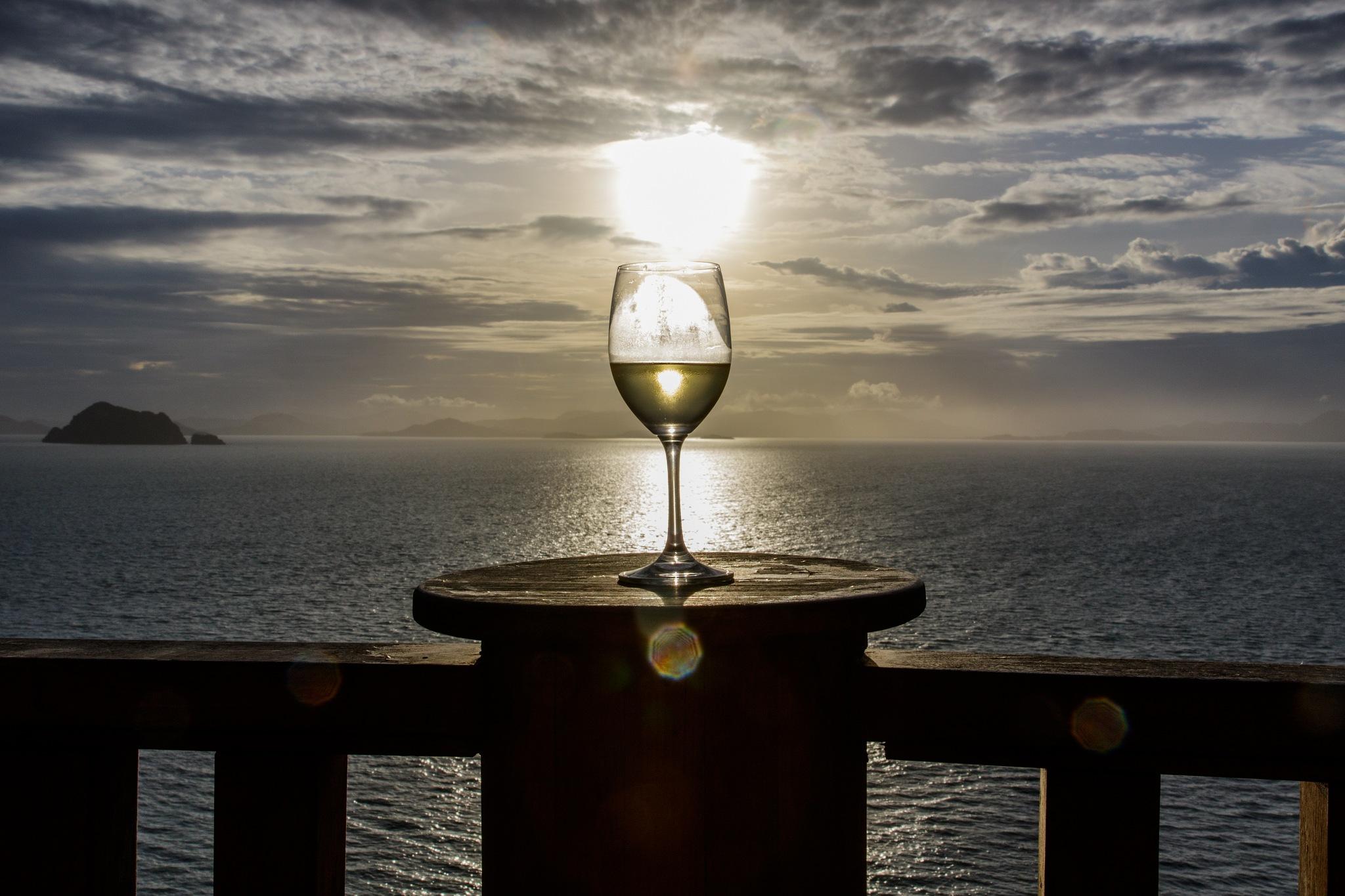 Golden wine on fire in the sunset by Bjarne Gertz Pedersen