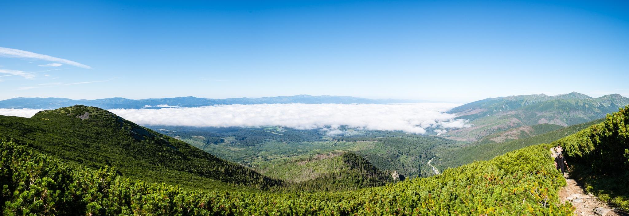 Panoramic view of Tatra mountains, Krivaņ by martinsvanags