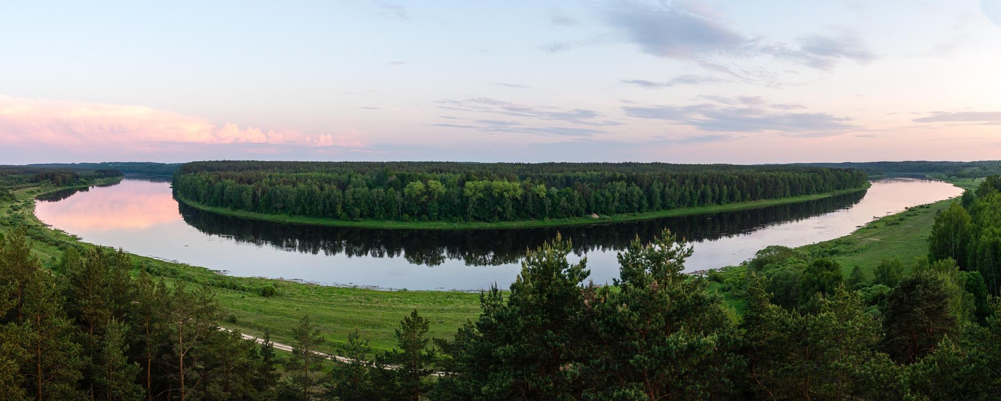 Panoramic view of Daugava river by martinsvanags