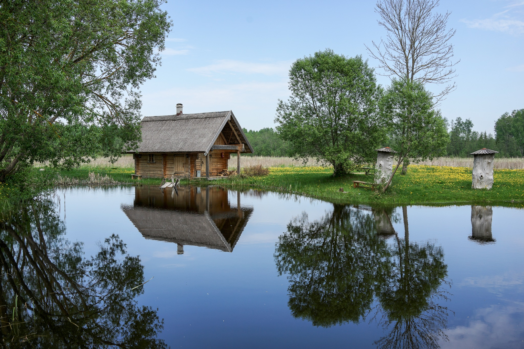 Lake house by martinsvanags