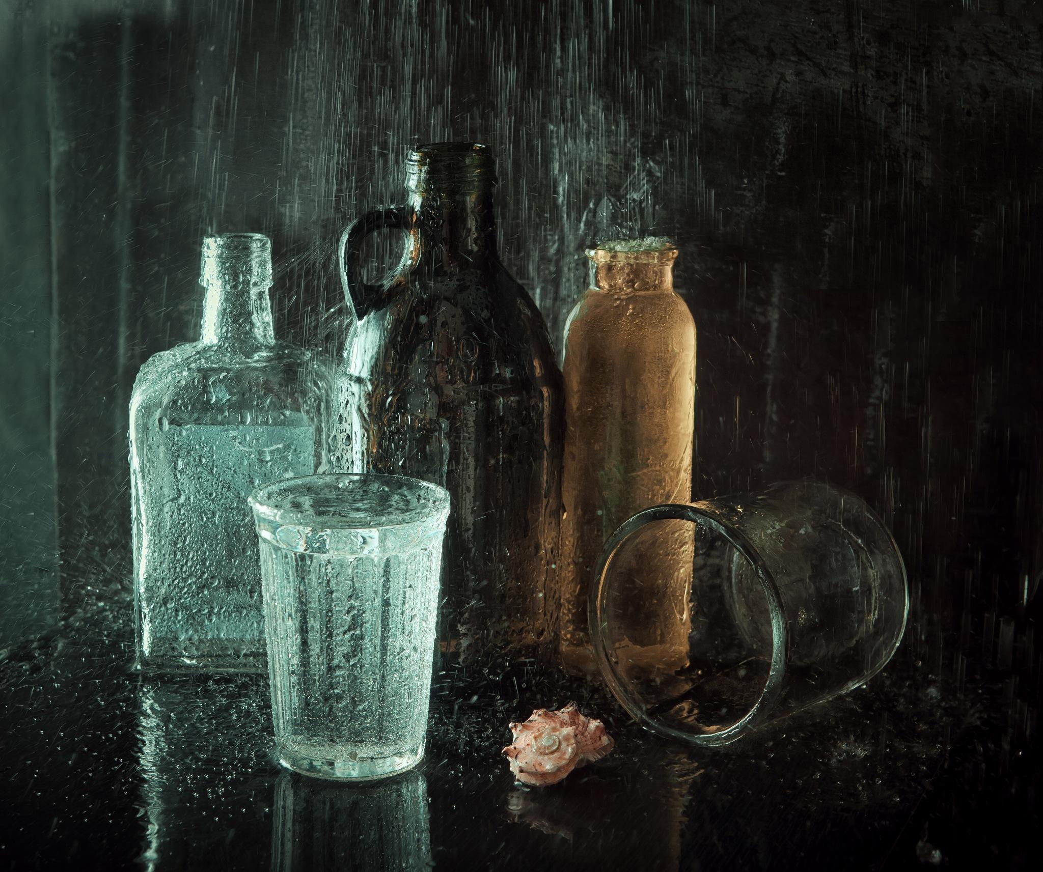 under the rain by Nataly Golubeva