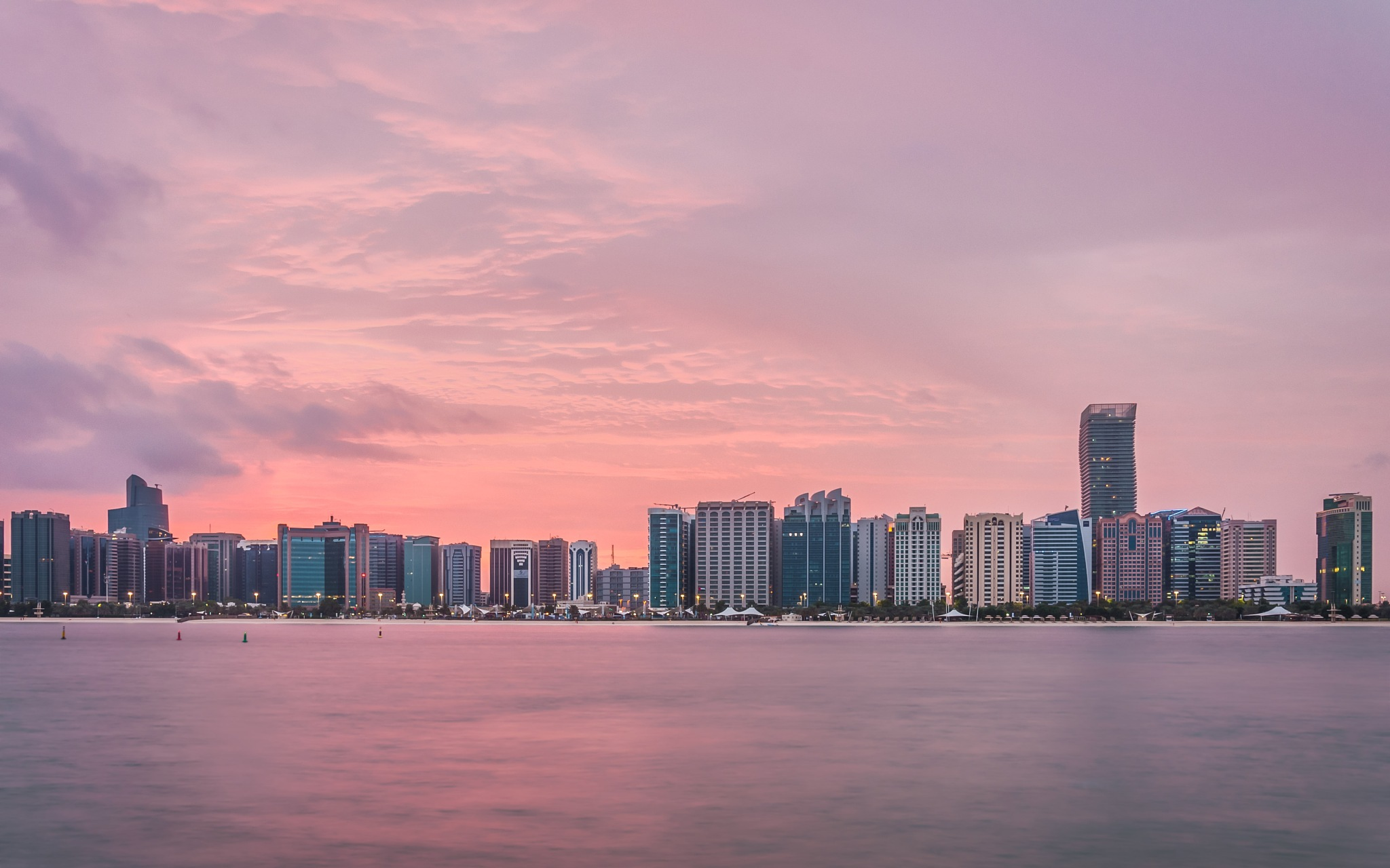 Sunrise in Abu Dhabi by kleptography