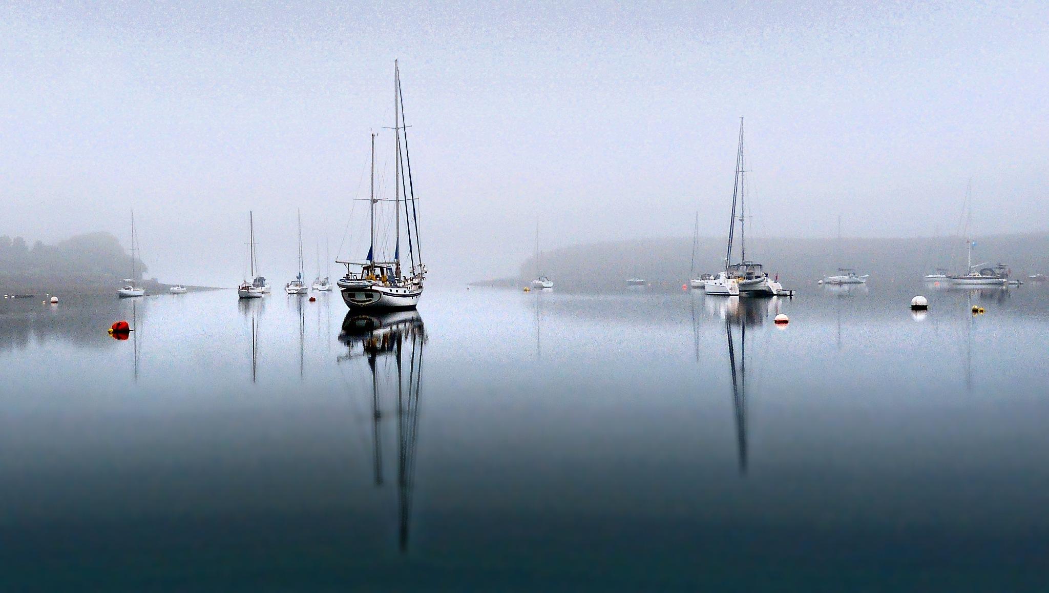 Misty Moorings by PeterMChambers