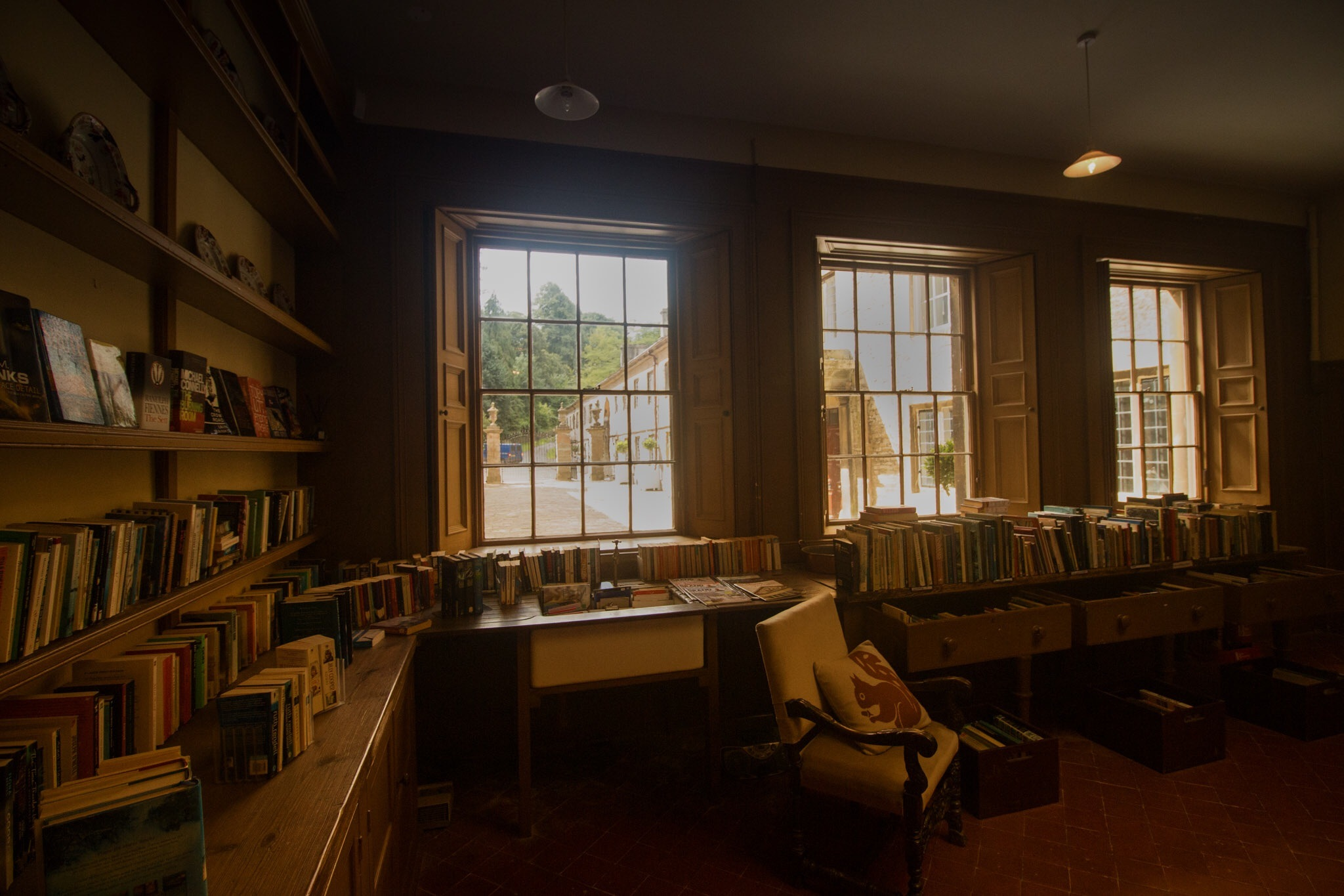 Light, Chair and Books by JohnJN