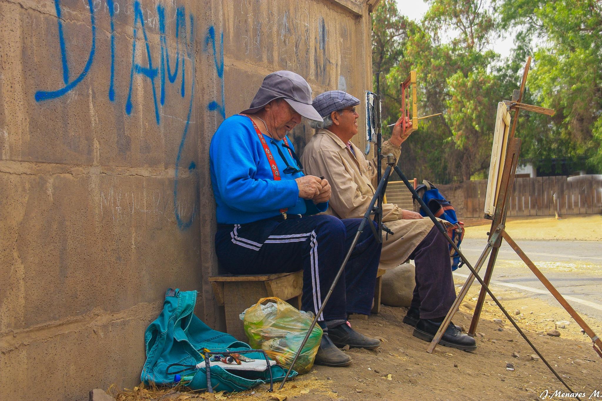 Pintores en acción by Jorge Menares Moreira